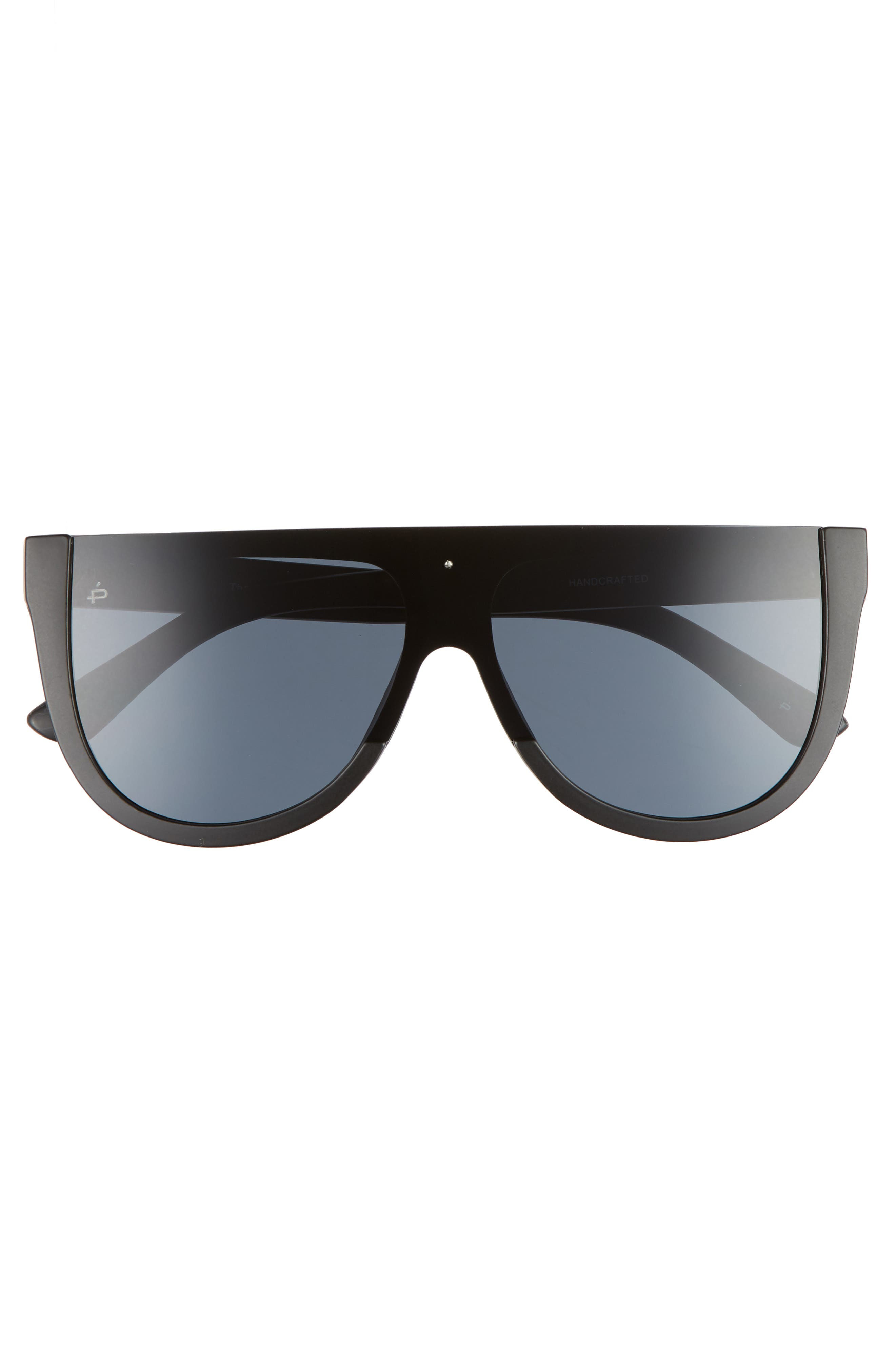 Privé Revaux The Coco 60mm Shield Sunglasses,                             Alternate thumbnail 4, color,                             Black
