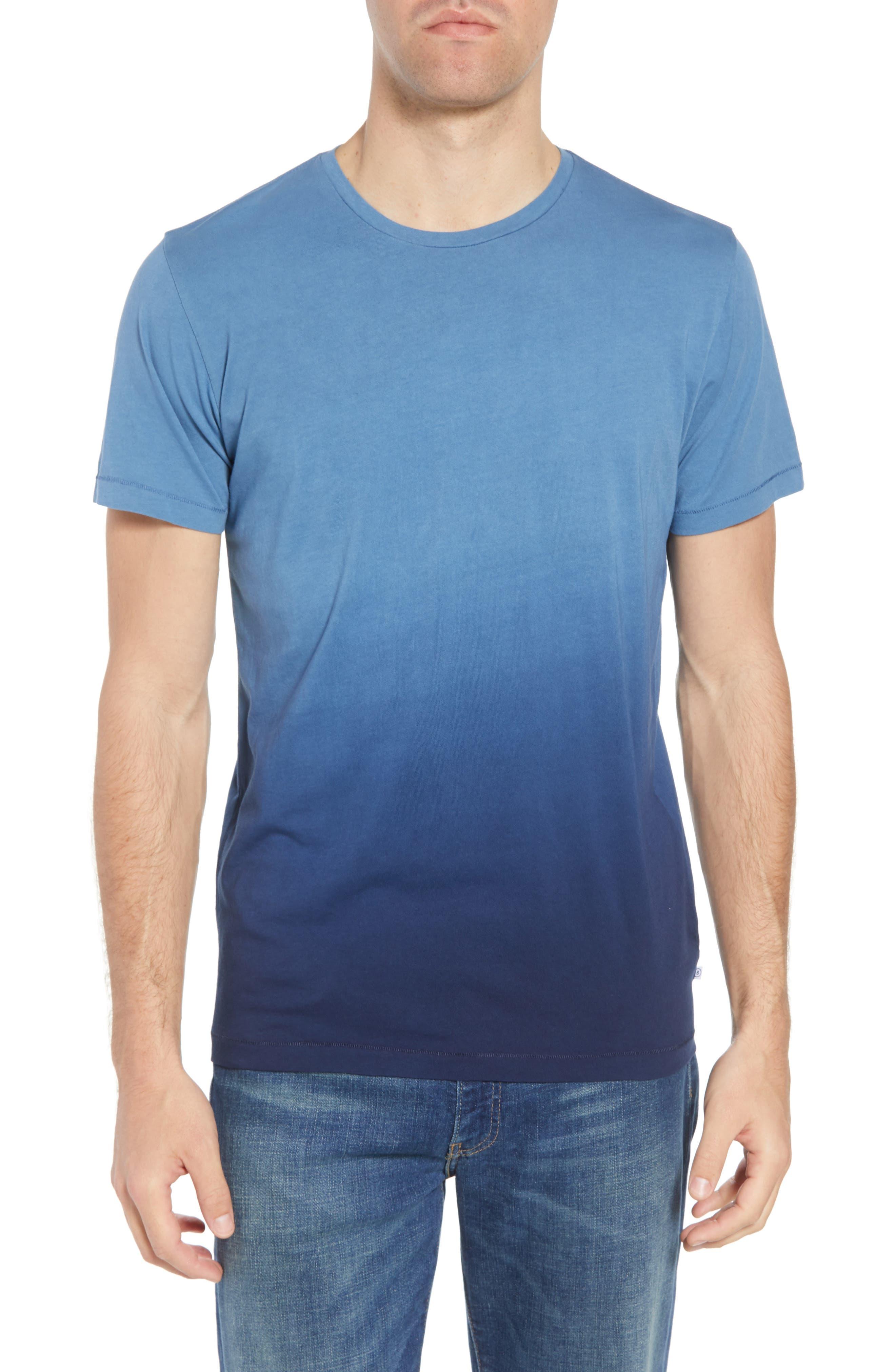 Dip Dye T-Shirt,                             Main thumbnail 1, color,                             Navy Ombre