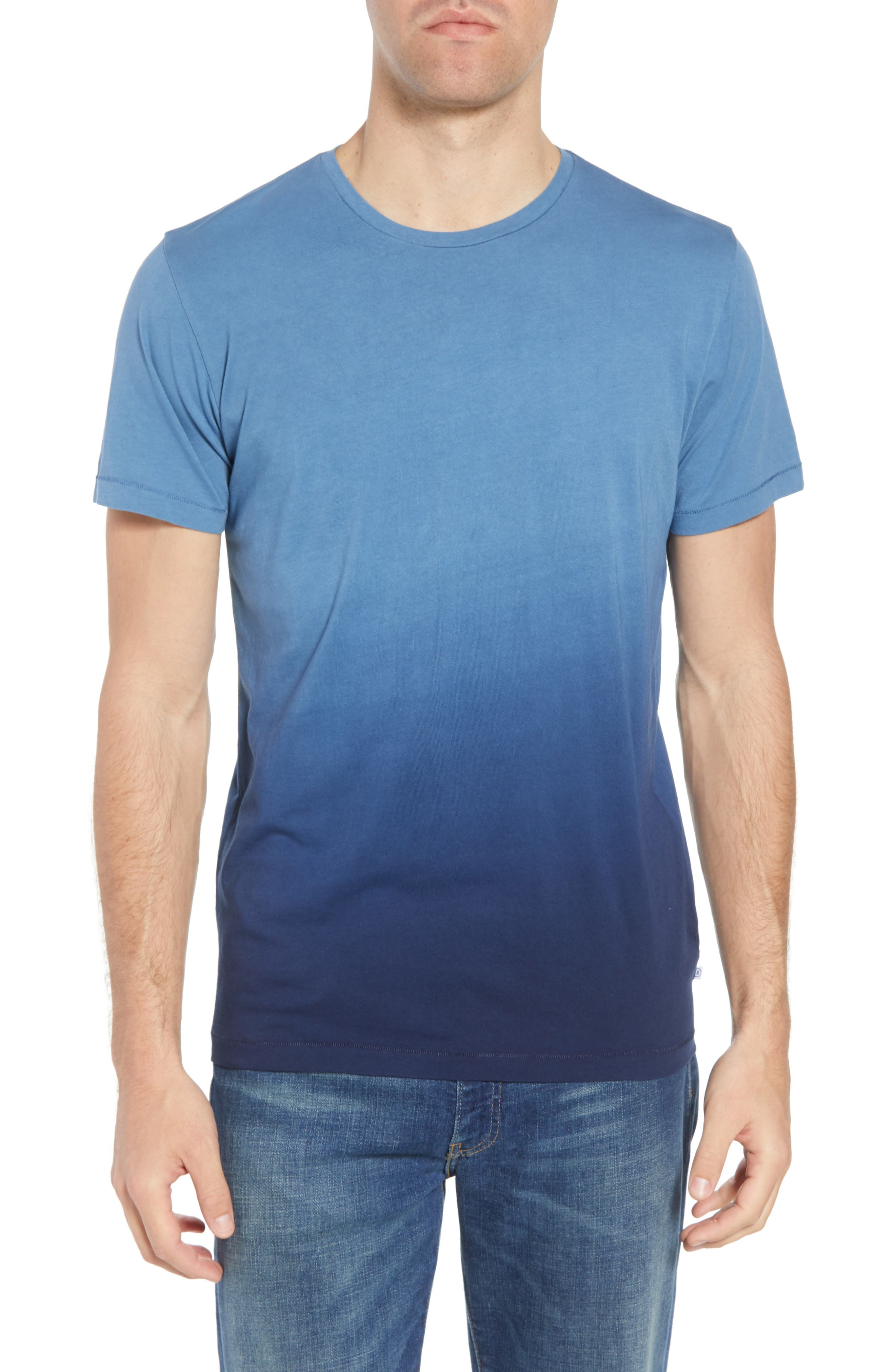 Dip Dye T-Shirt,                         Main,                         color, Navy Ombre