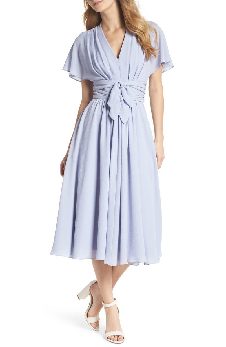 Jane Tie Waist Midi Dress,                         Main,                         color, Hydrangea
