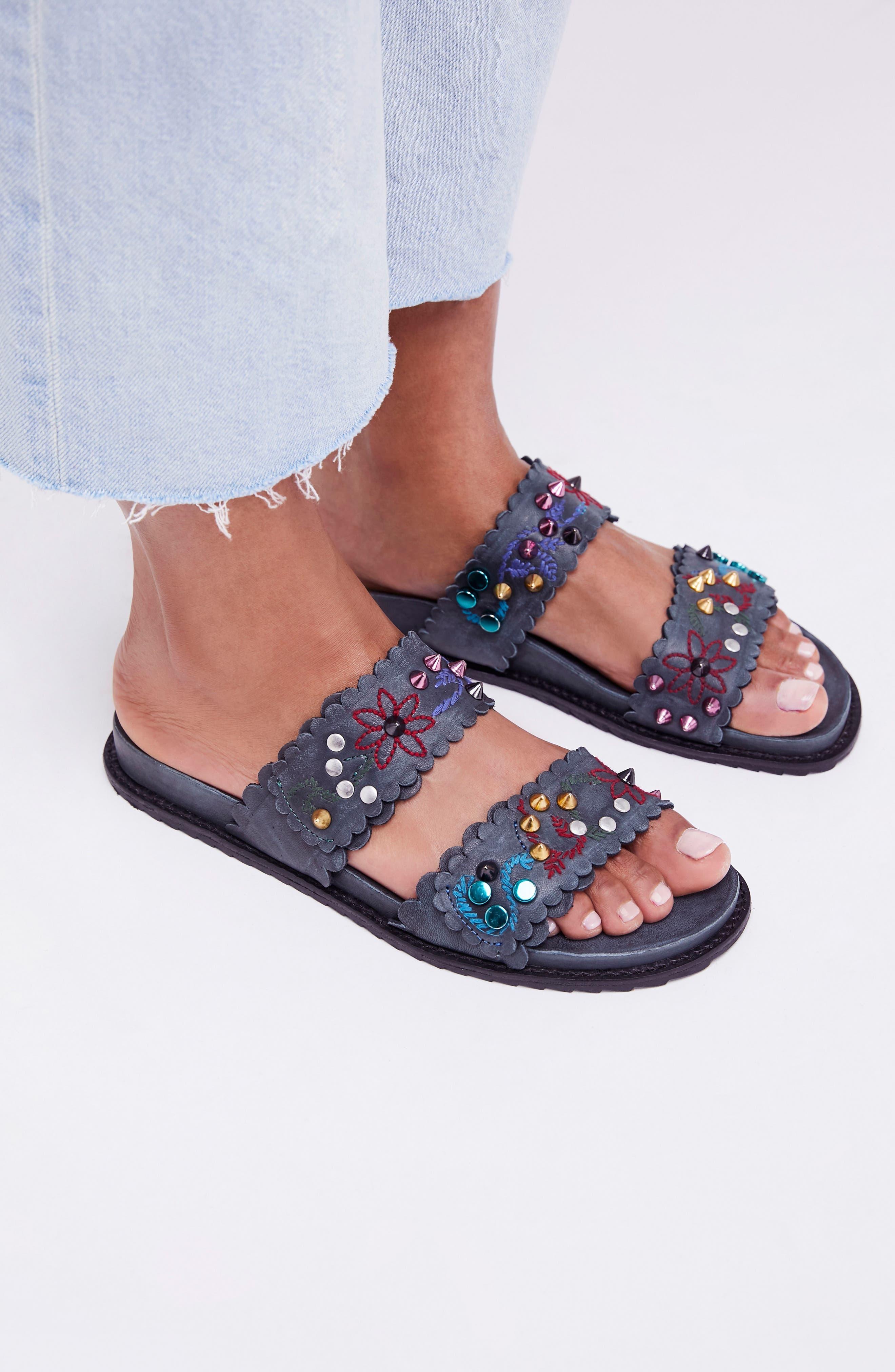 Spellbound Embellished Slide Sandal,                             Alternate thumbnail 7, color,