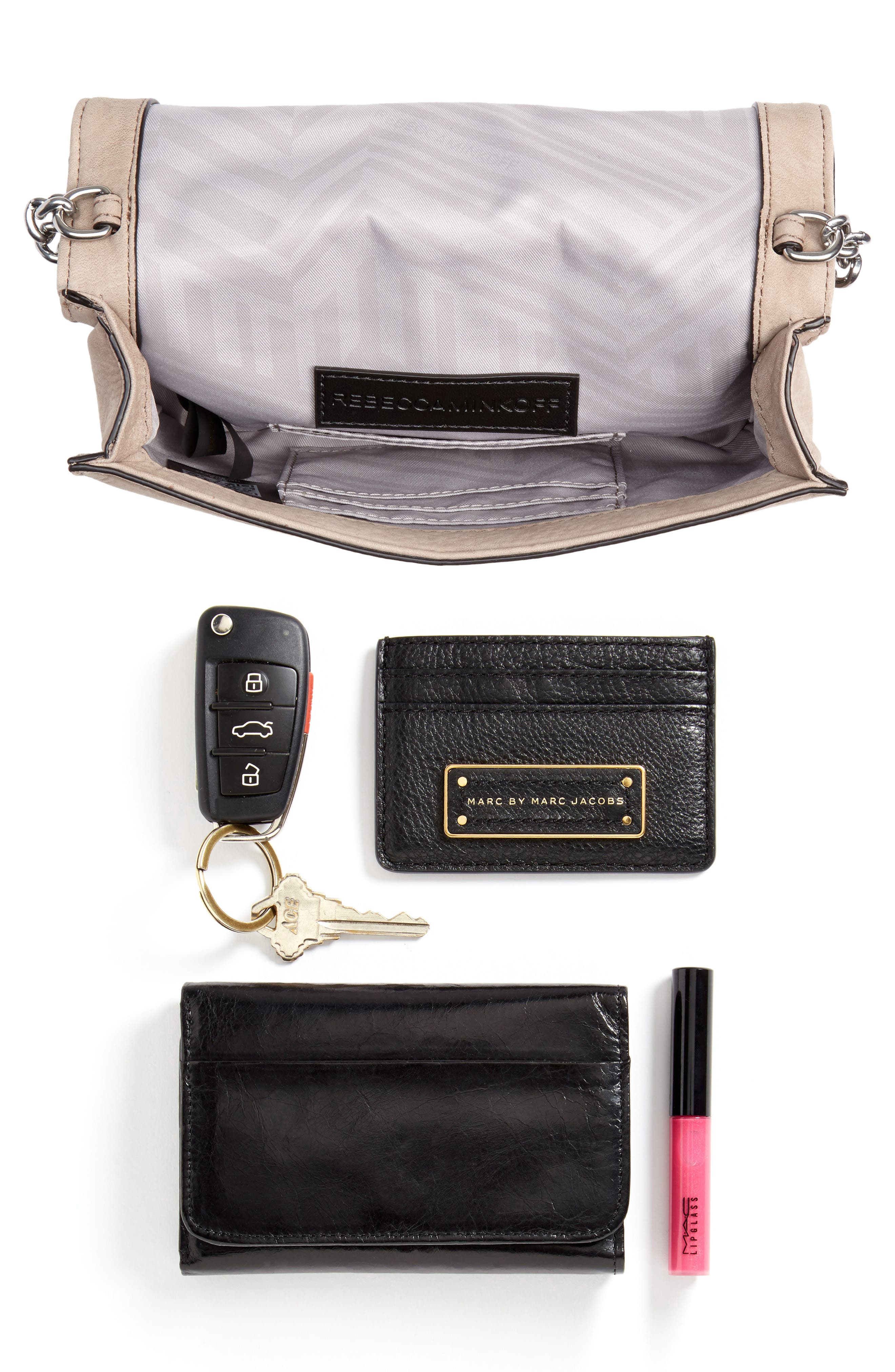 Small Love Nubuck Leather Crossbody Bag,                             Alternate thumbnail 4, color,