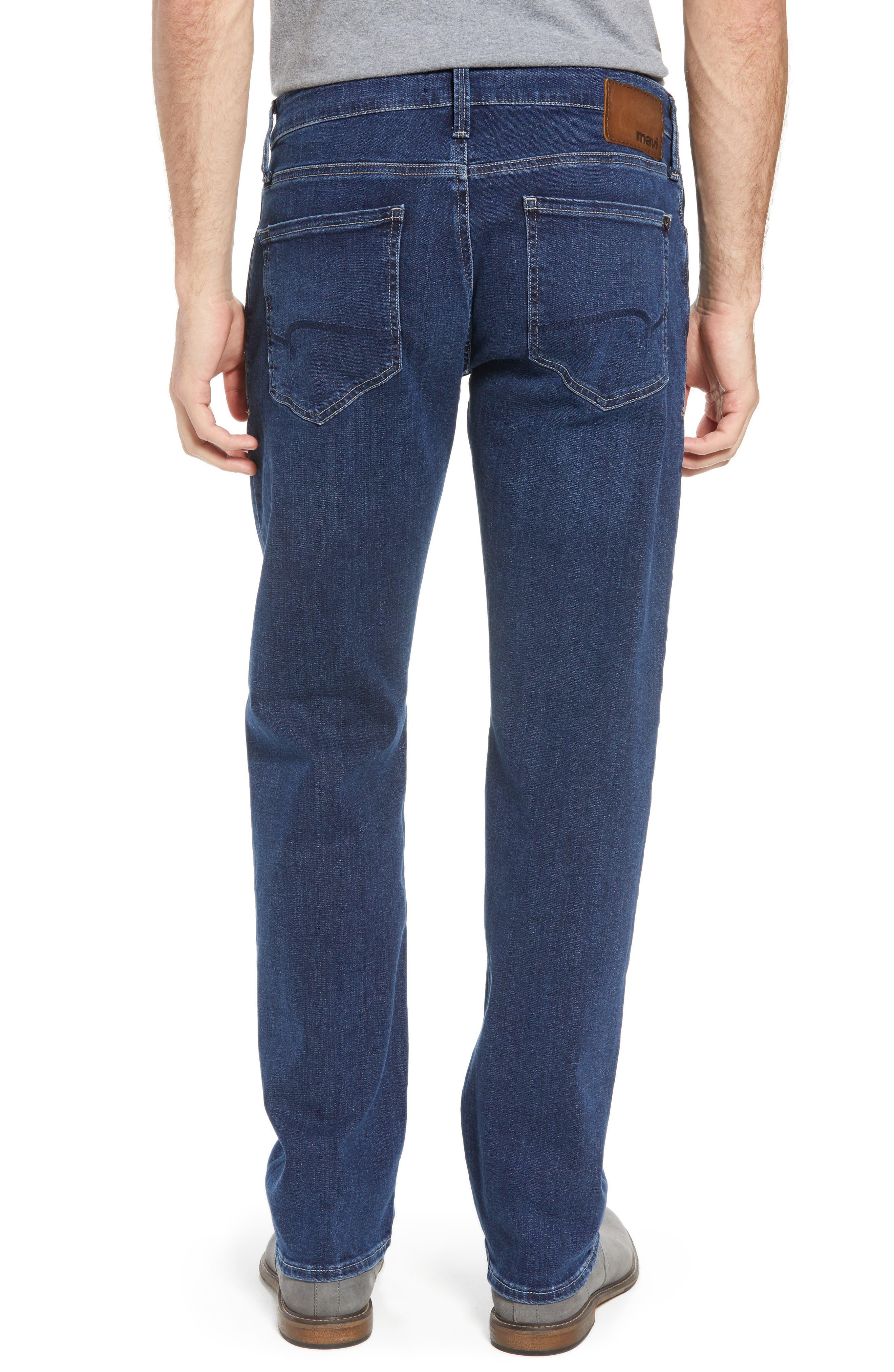 Zach Straight Leg Jeans,                             Alternate thumbnail 2, color,                             Dark Blue Williamsburg