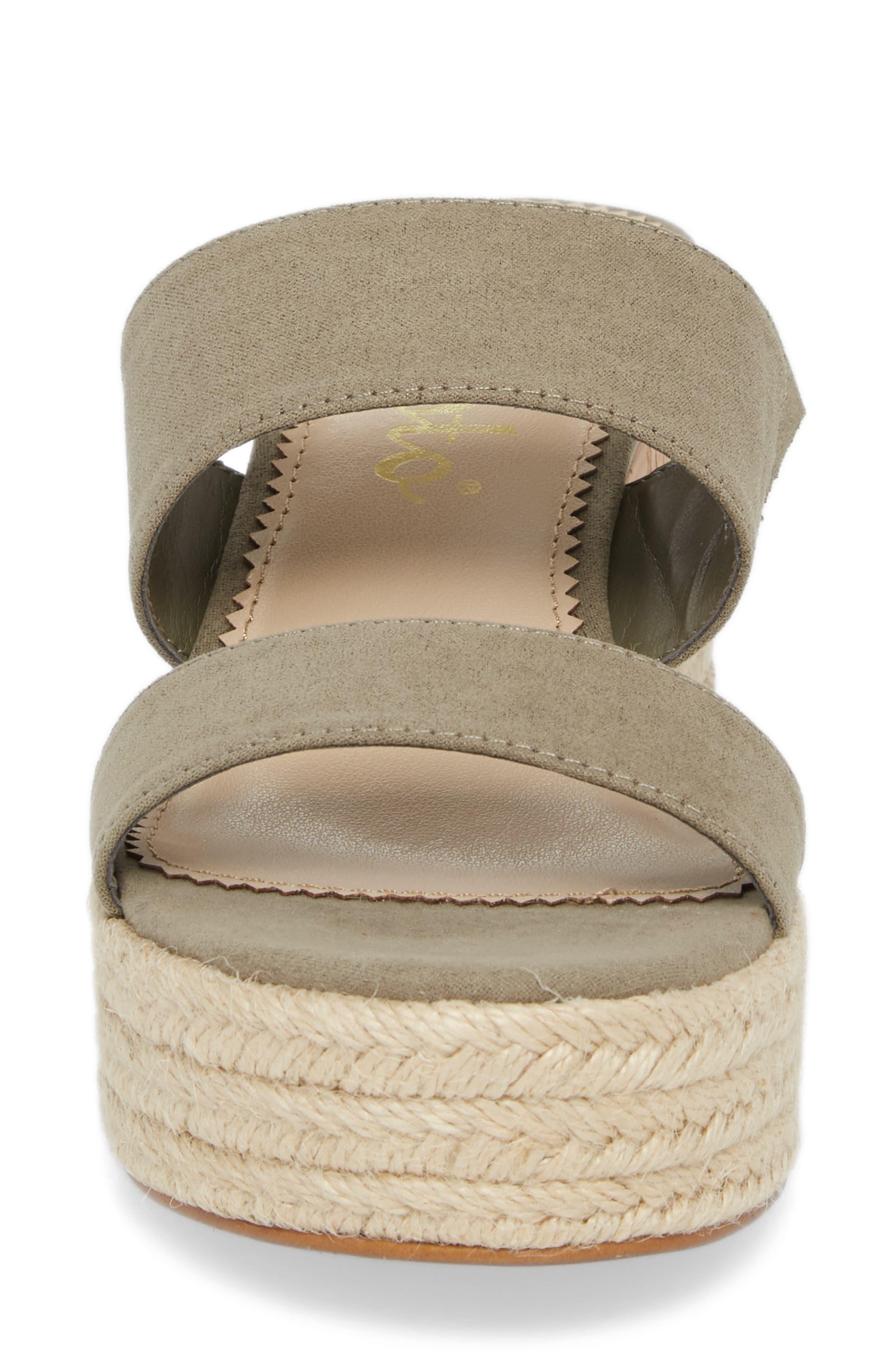 Foundation Platform Slide Sandal,                             Alternate thumbnail 4, color,                             Sage Suede