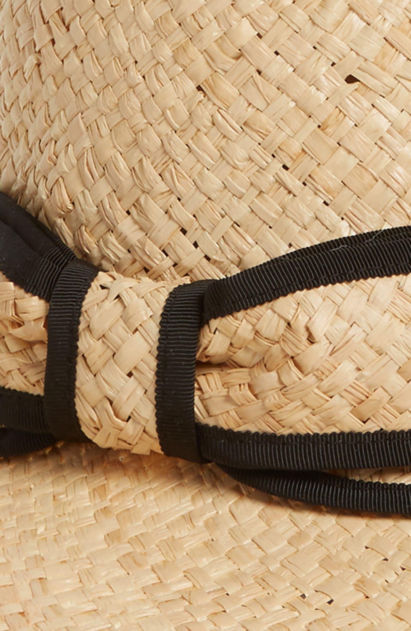 olive drive straw hat,                             Alternate thumbnail 2, color,                             Natural/ Black