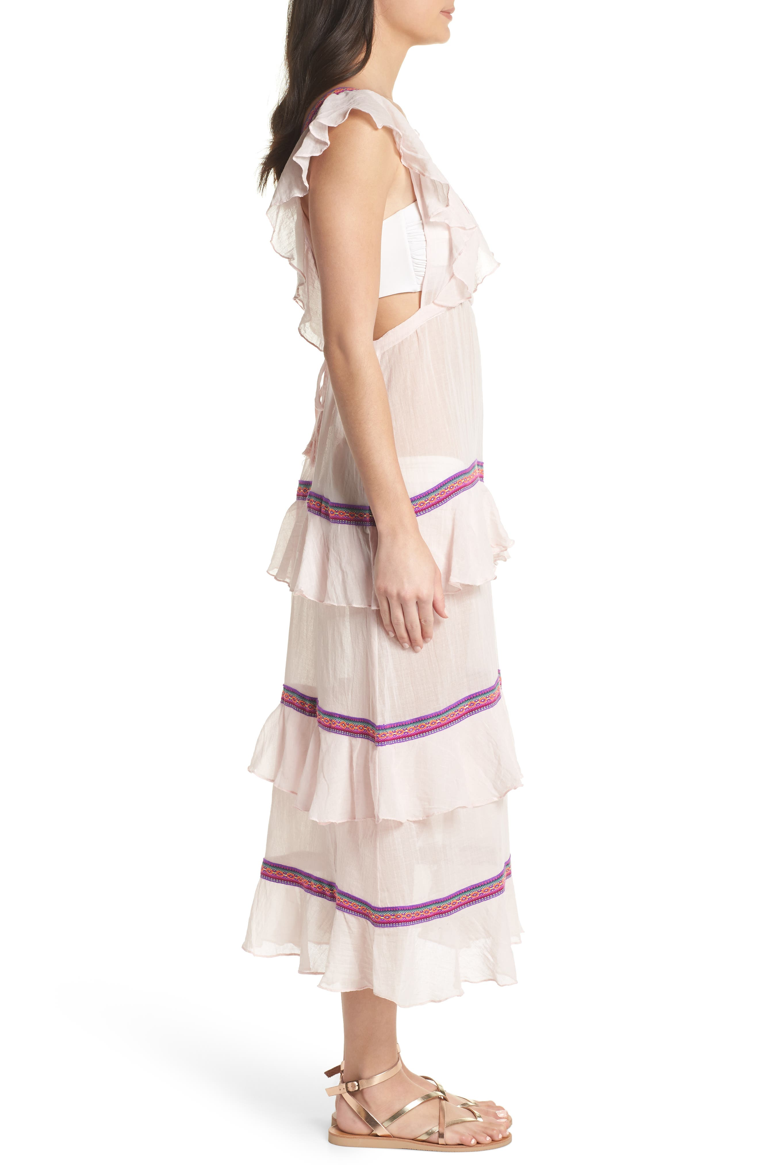 Eve Cover-Up Dress,                             Alternate thumbnail 3, color,                             Pale Pink