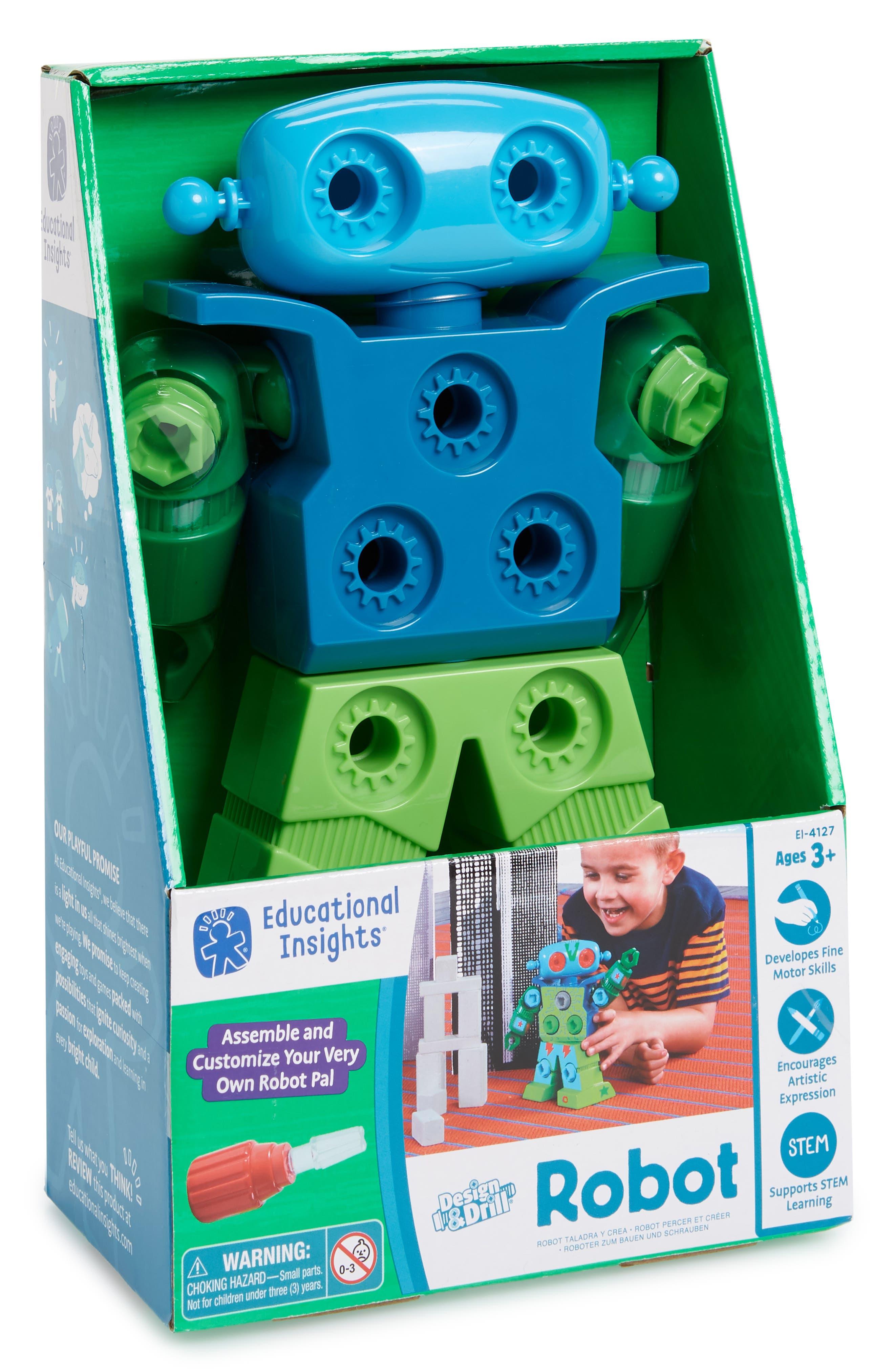 Design & Drill Robot Kit,                         Main,                         color, Blue