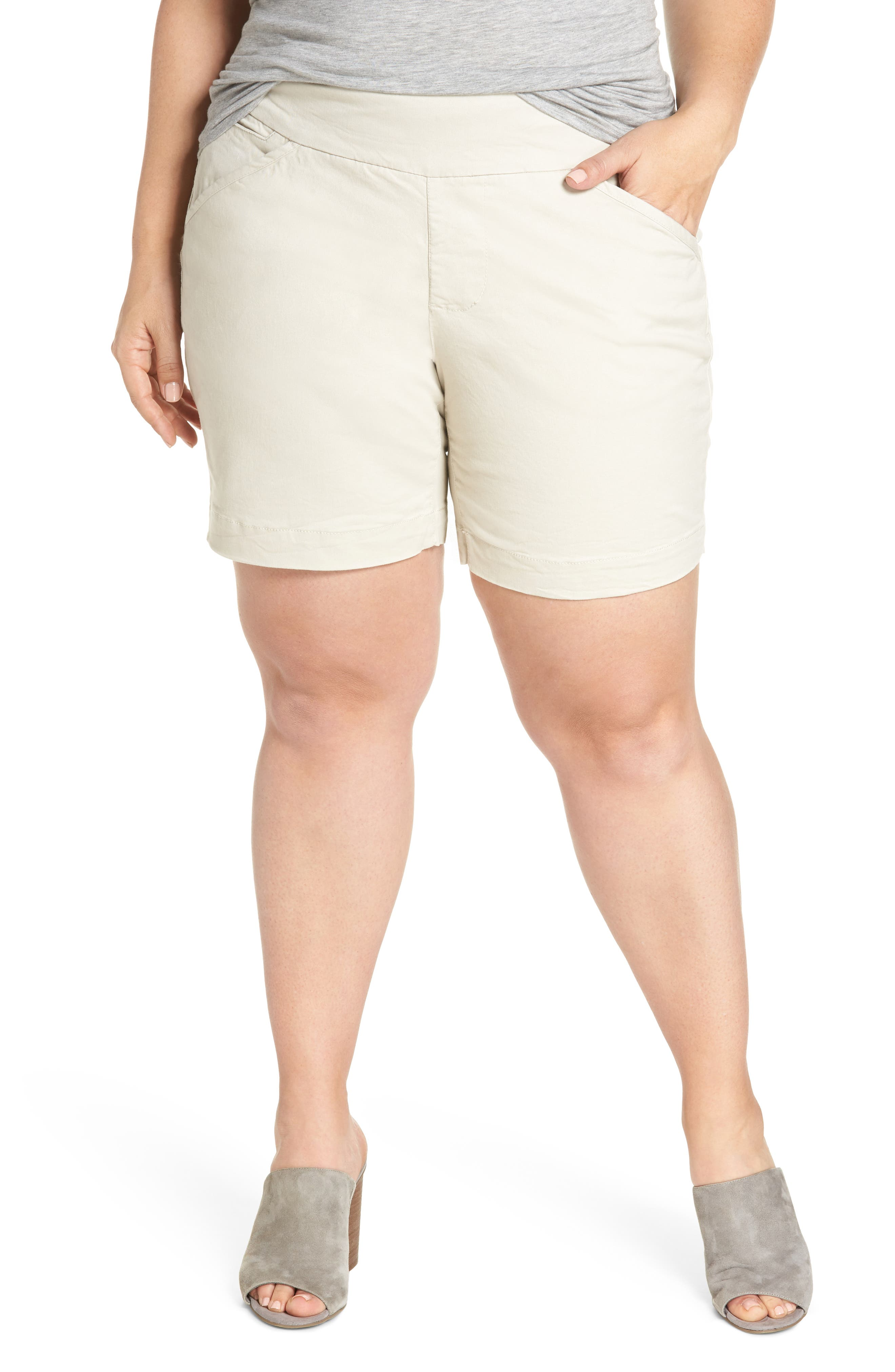Ainsley Pull-On Shorts,                         Main,                         color, Stone