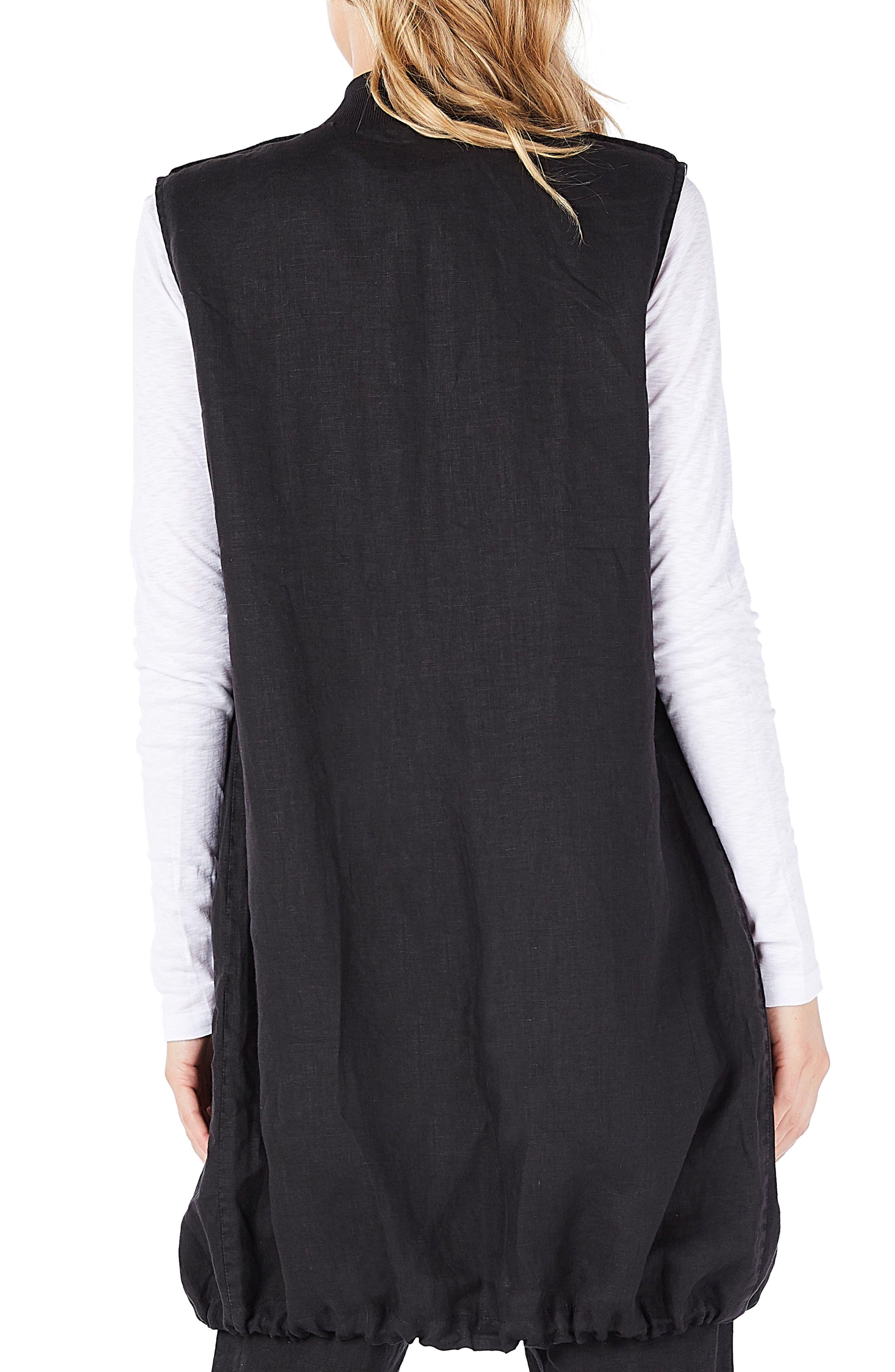 Reversible Bomber Vest,                             Alternate thumbnail 2, color,                             Black