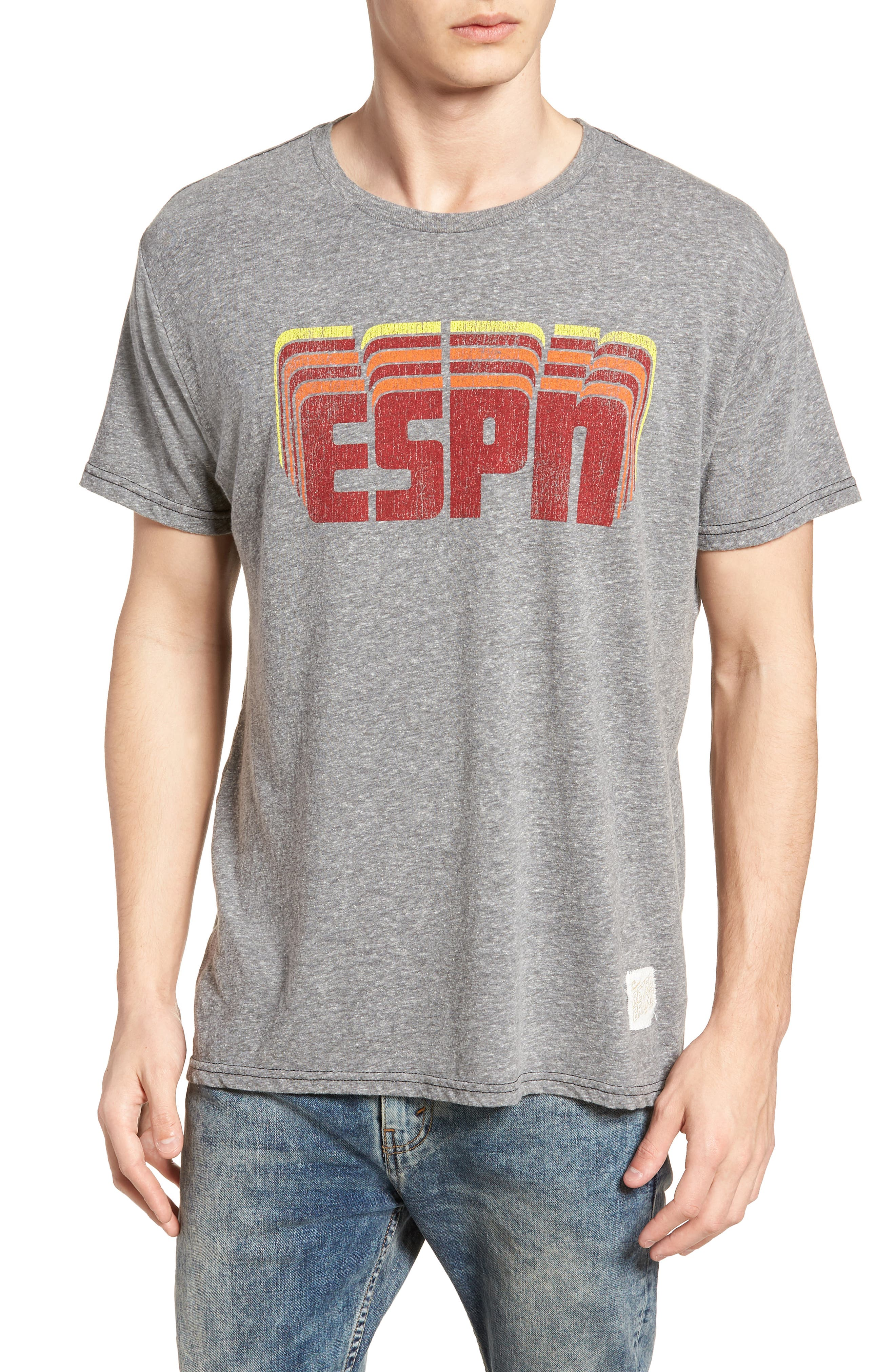 ESPN Graphic T-Shirt,                         Main,                         color, Streaky Grey