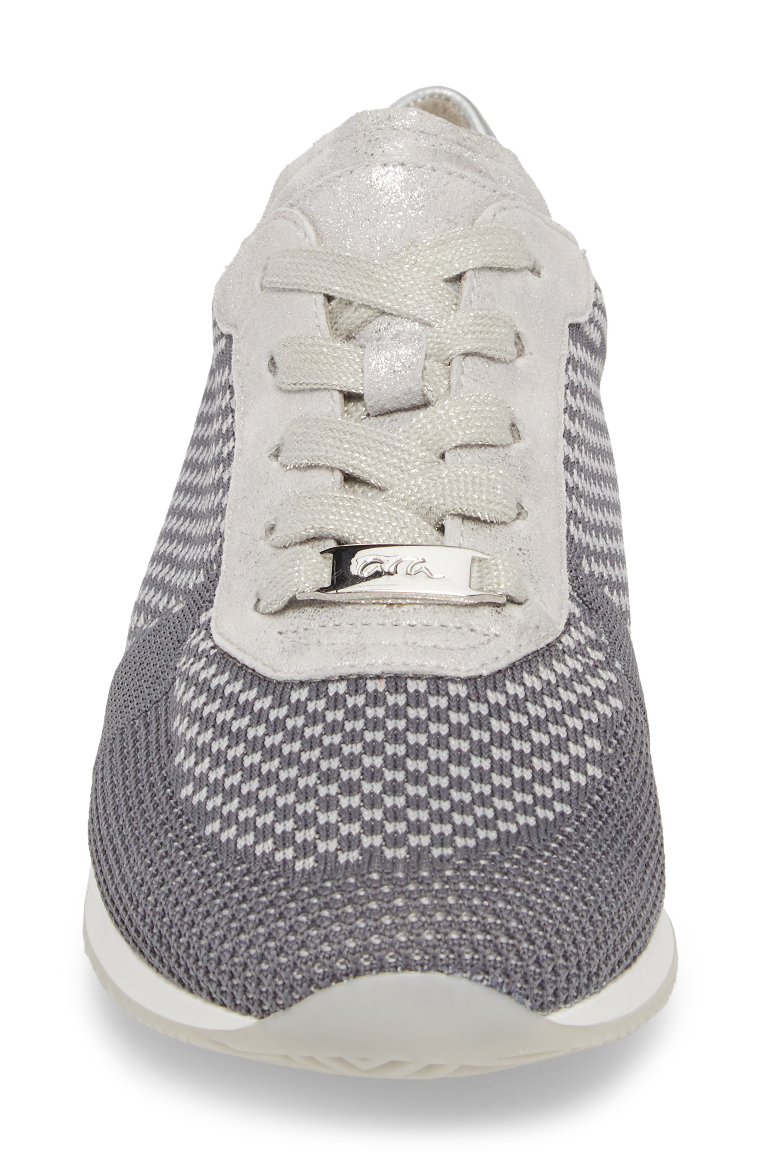Lilly Sneaker,                             Alternate thumbnail 4, color,                             Grey Fabric