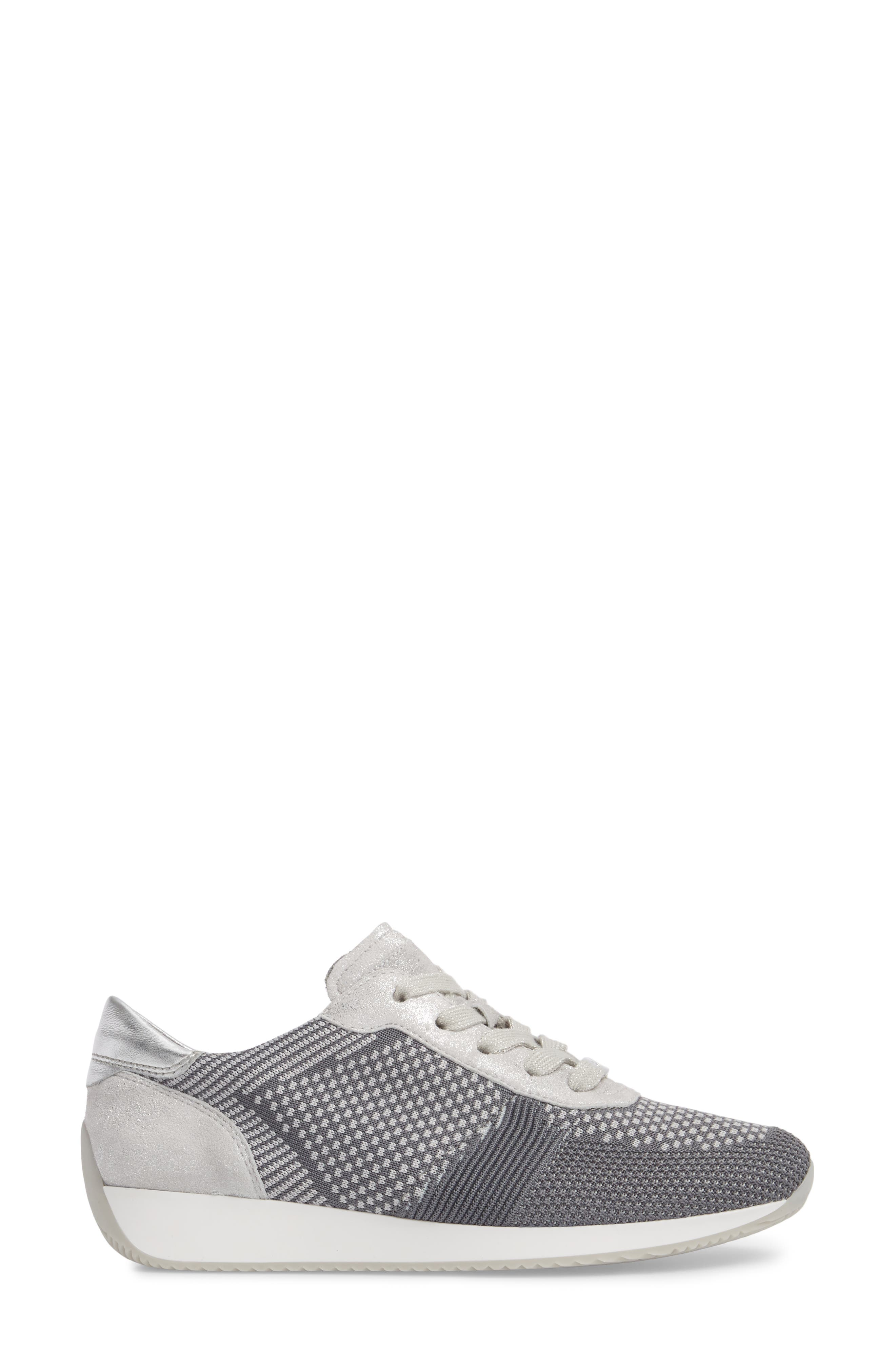 Lilly Sneaker,                             Alternate thumbnail 3, color,                             Grey Fabric