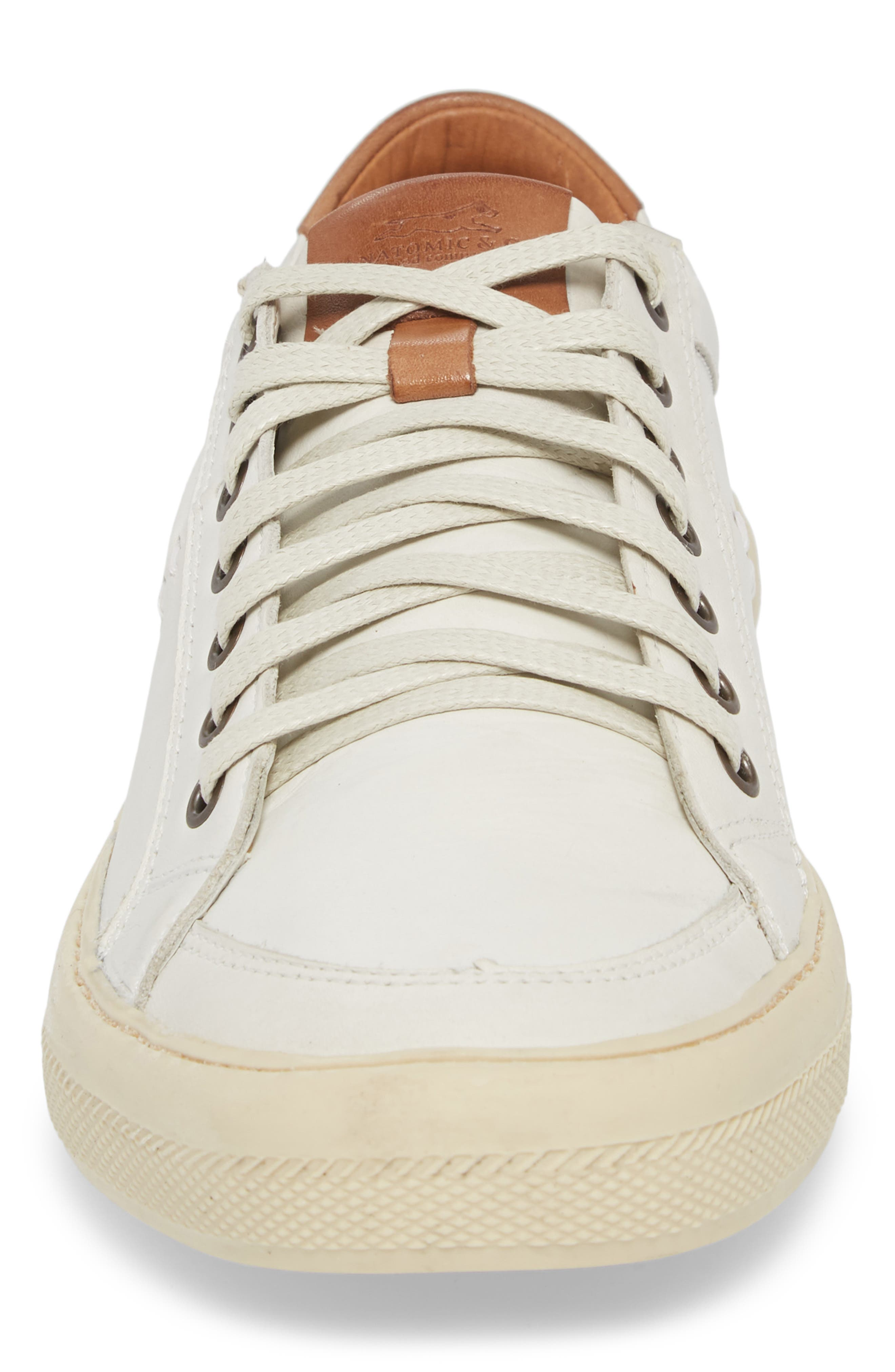 Bilac Low Top Sneaker,                             Alternate thumbnail 4, color,                             Touch Ice/ Bronze Leather