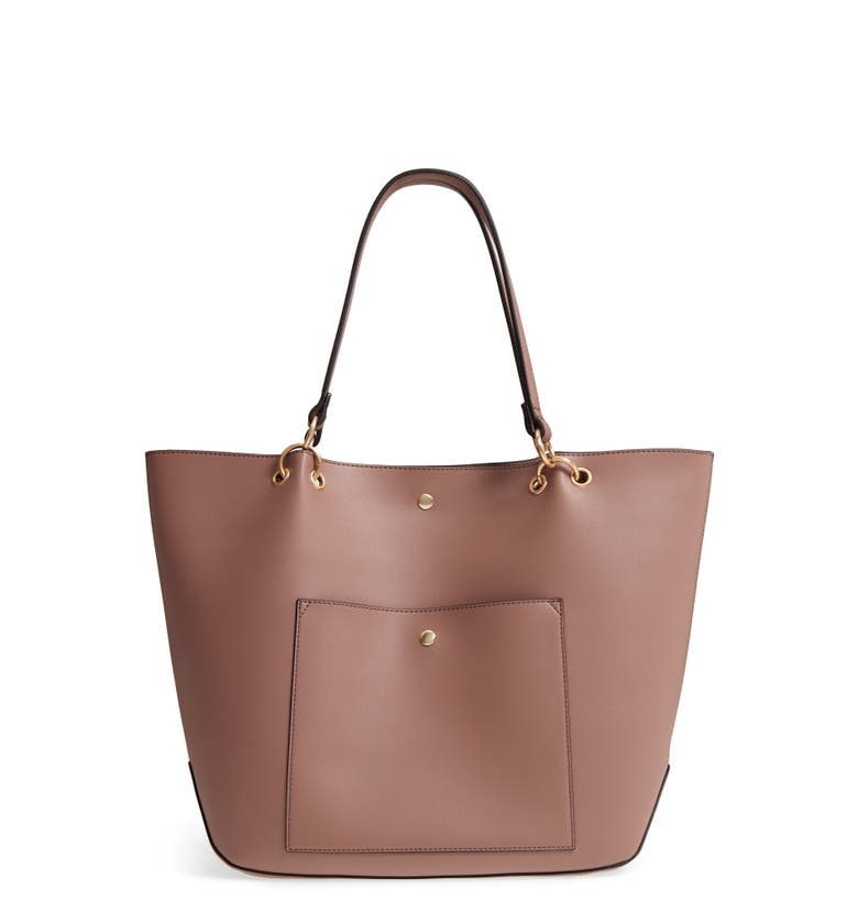Fronto Faux Leather Tote, Main, color, Mauve