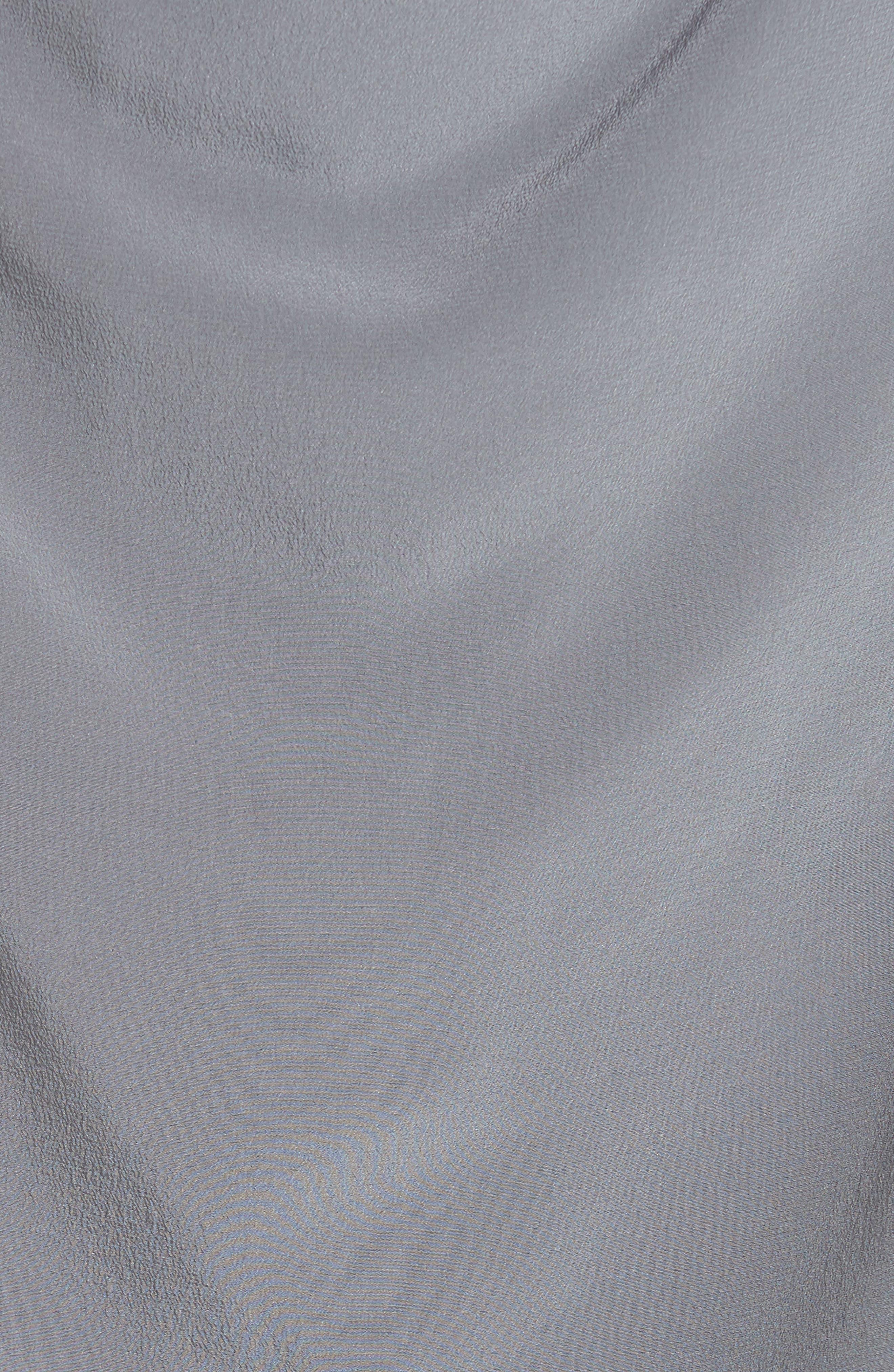 Draped Silk Tank Top,                             Alternate thumbnail 5, color,                             Grey