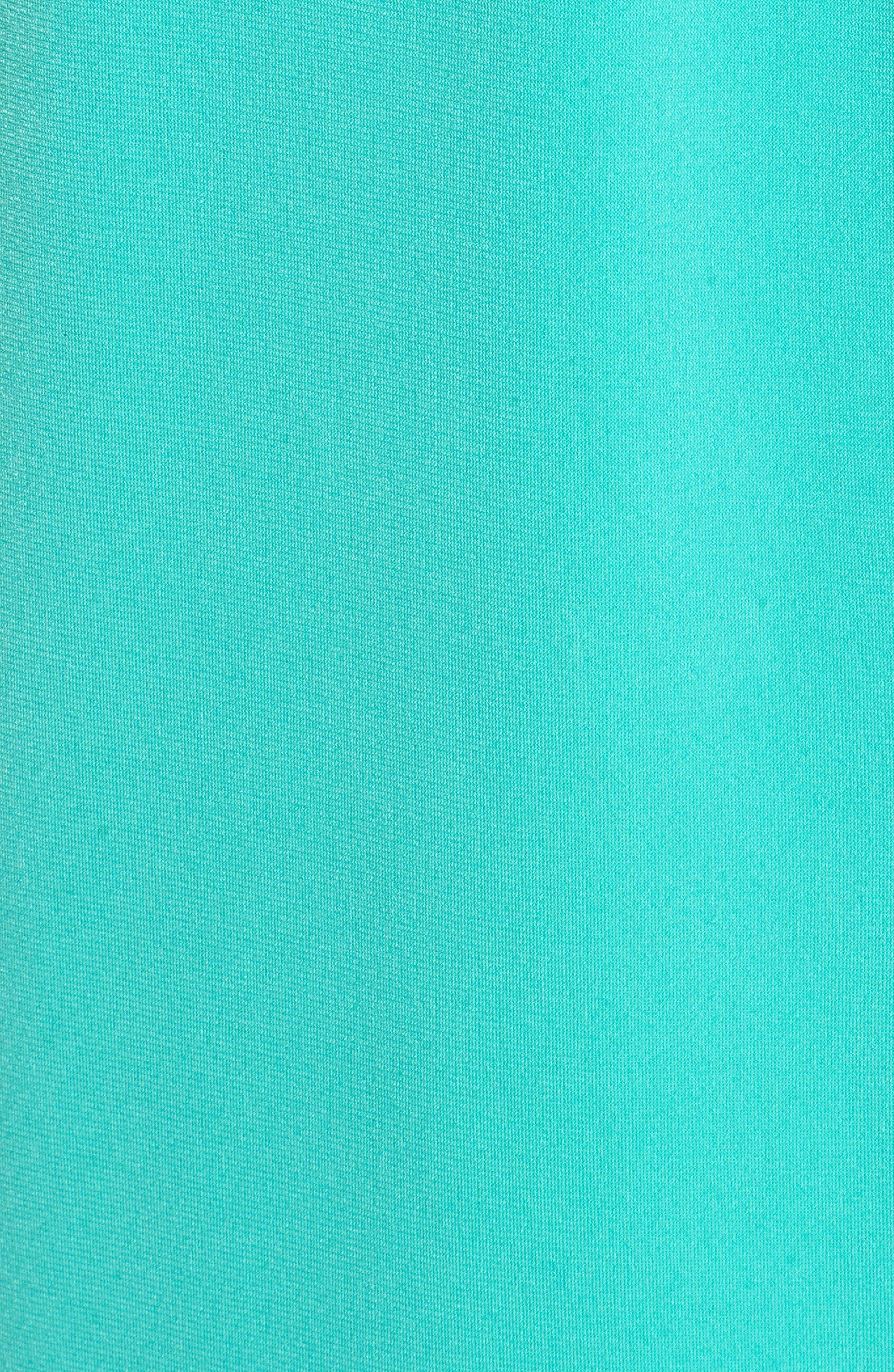 Chain Detail Halter Dress,                             Alternate thumbnail 6, color,                             Aqua