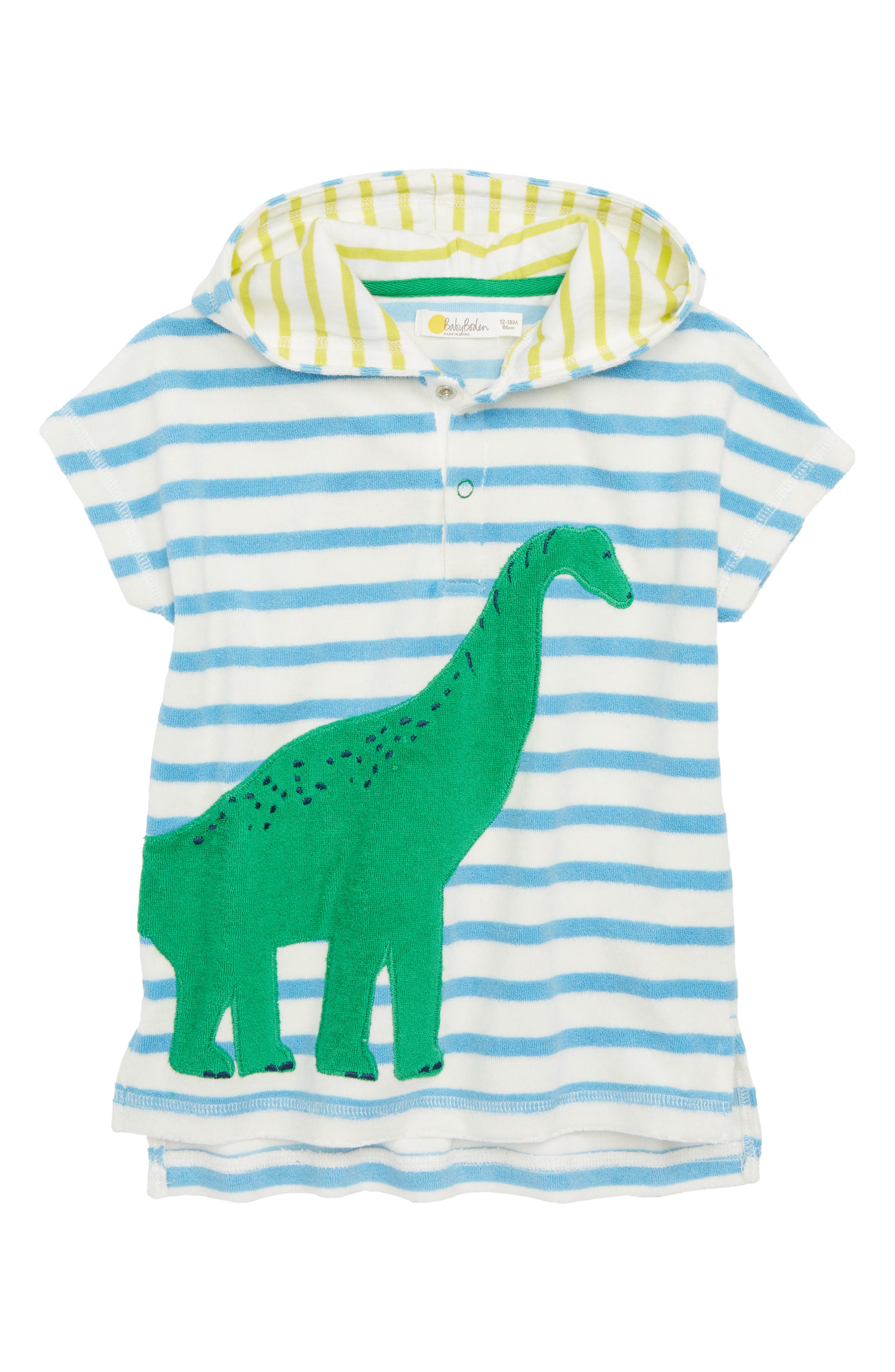 Mini Boden Animal Toweling Throw-On Beach Cover-Up (Baby & Toddler)
