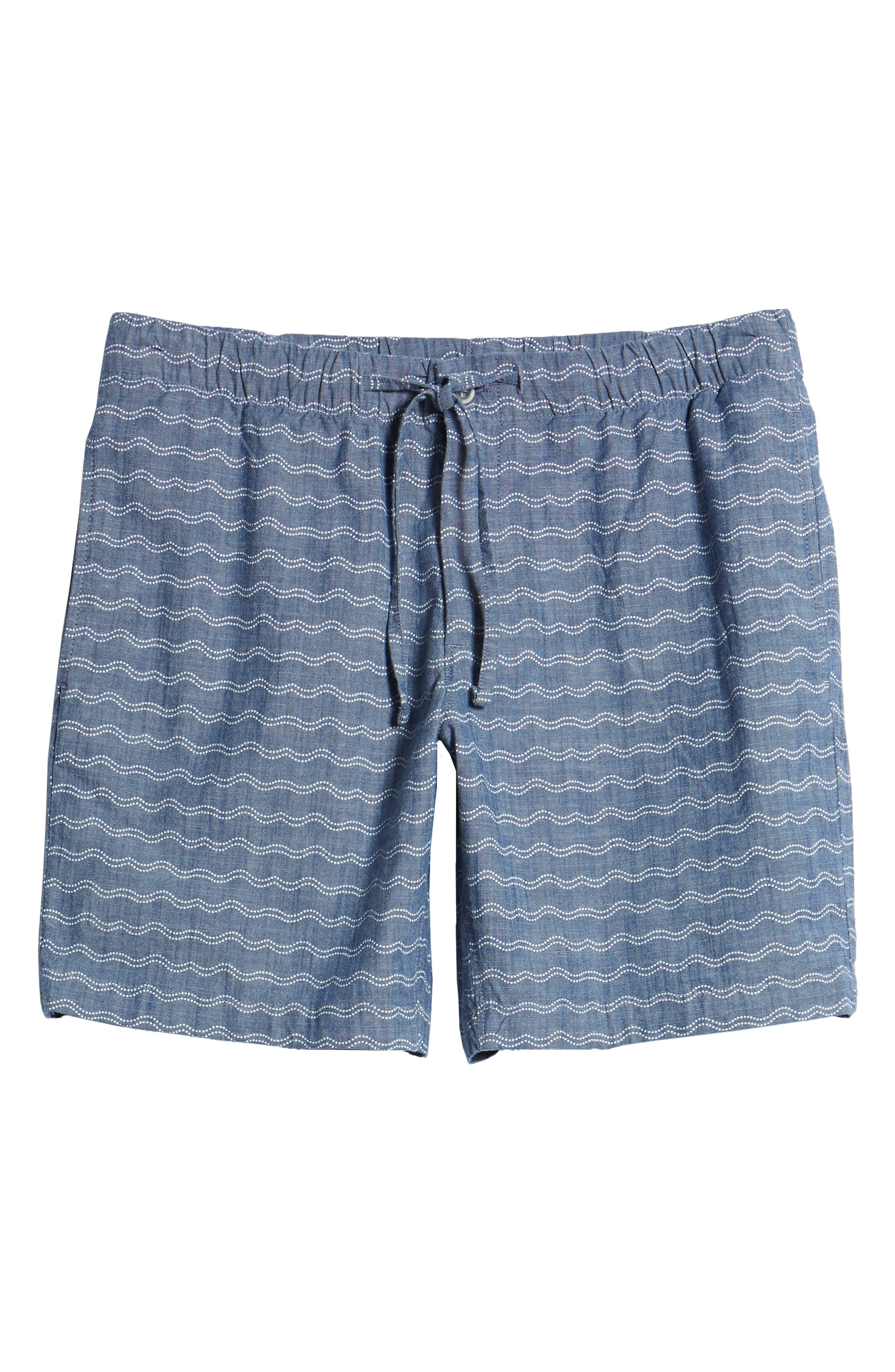 Print Beach Shorts,                             Alternate thumbnail 6, color,                             Wave Dot Chambray
