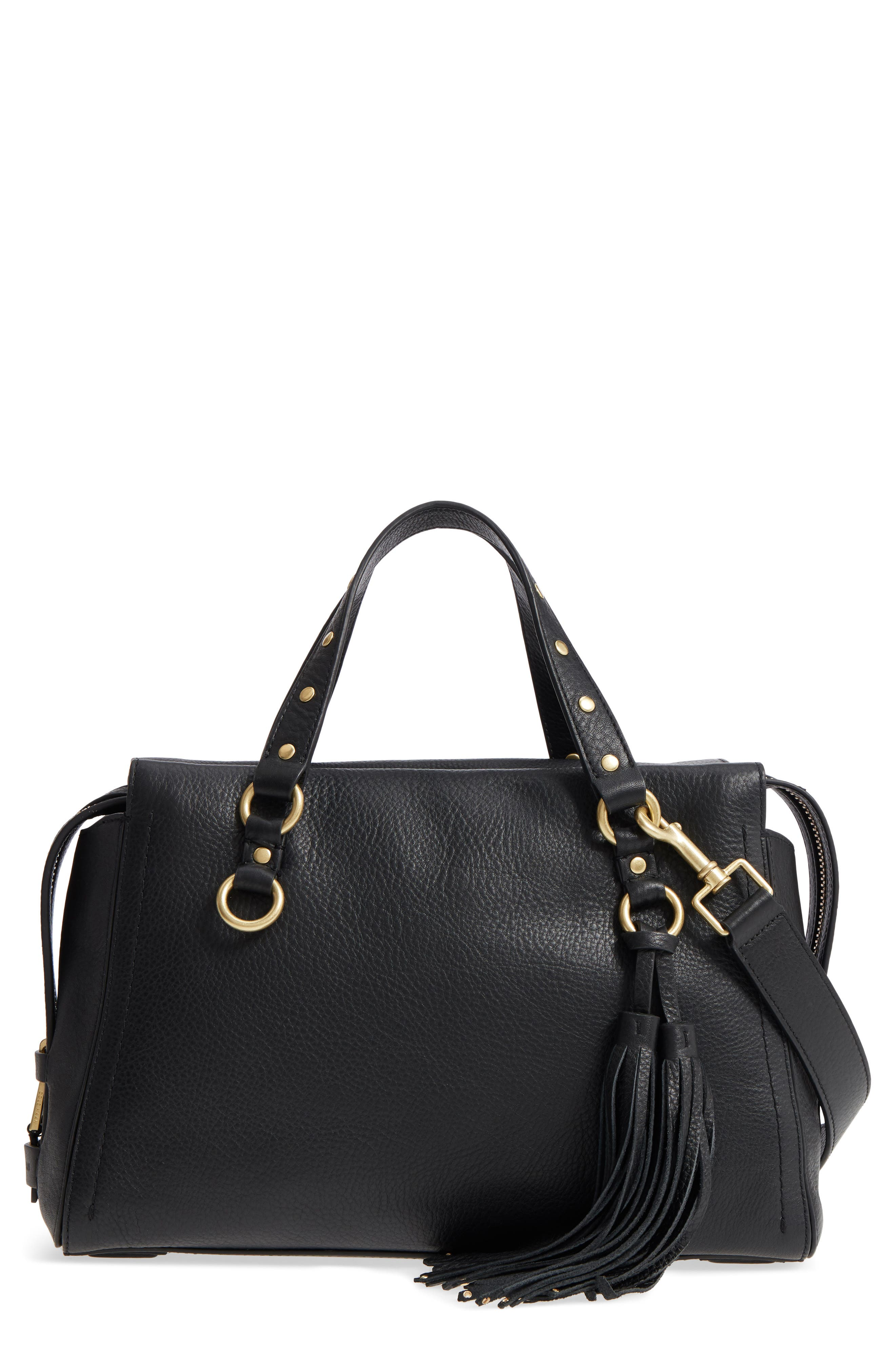 Cole Haan Cassidy RFID Pebbled Leather Satchel