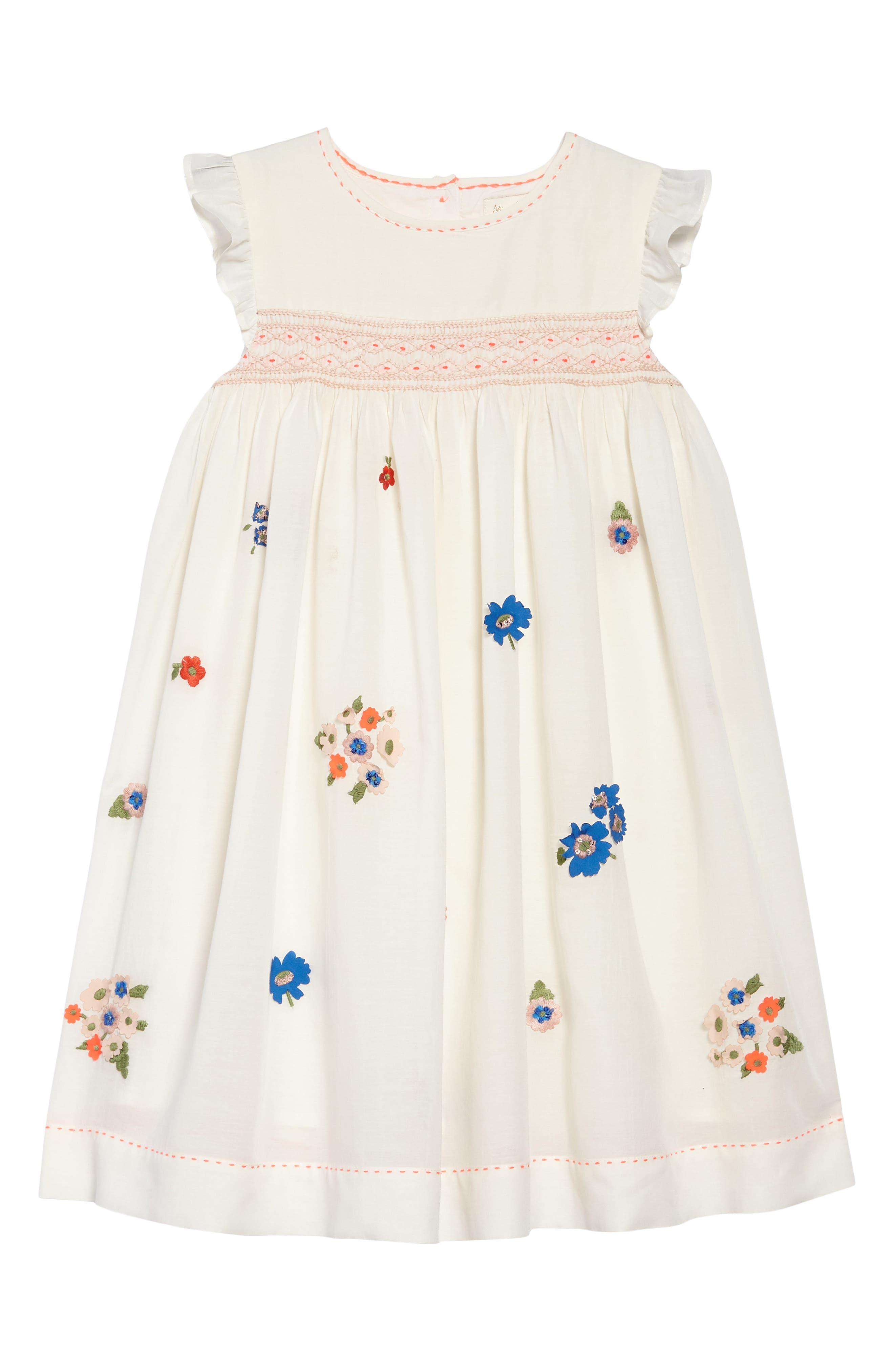 Embroidered Smock Dress,                             Main thumbnail 1, color,                             Mltmulti Vintage Posy