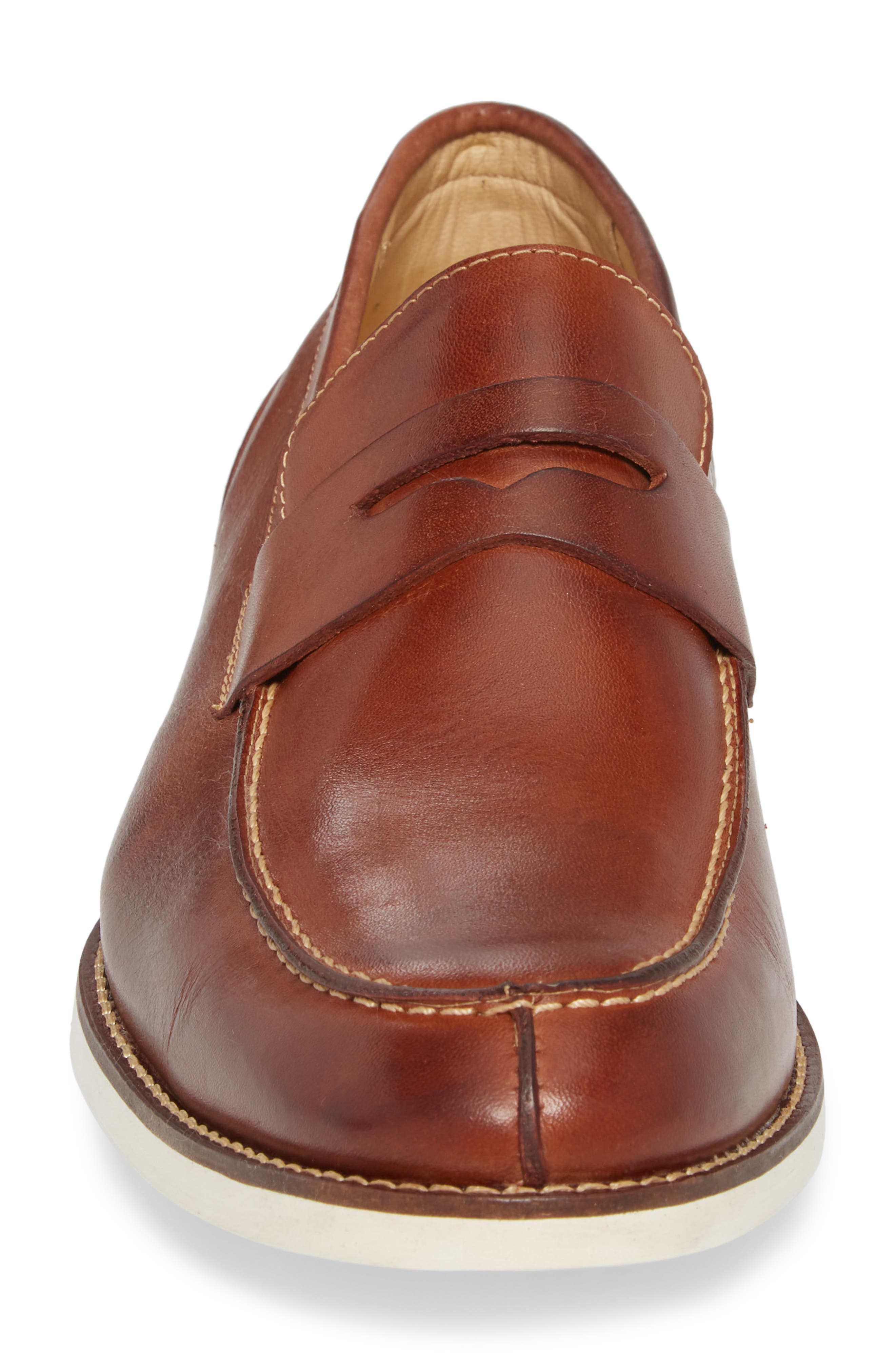 Senador Penny Loafer,                             Alternate thumbnail 4, color,                             Touch Havana Leather