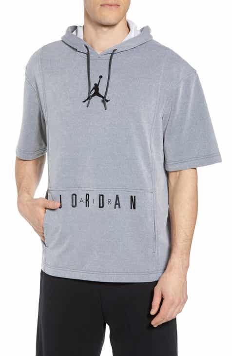 c1a9dcecc636 Nike Air Jordon Short Sleeve Basketball Hoodie