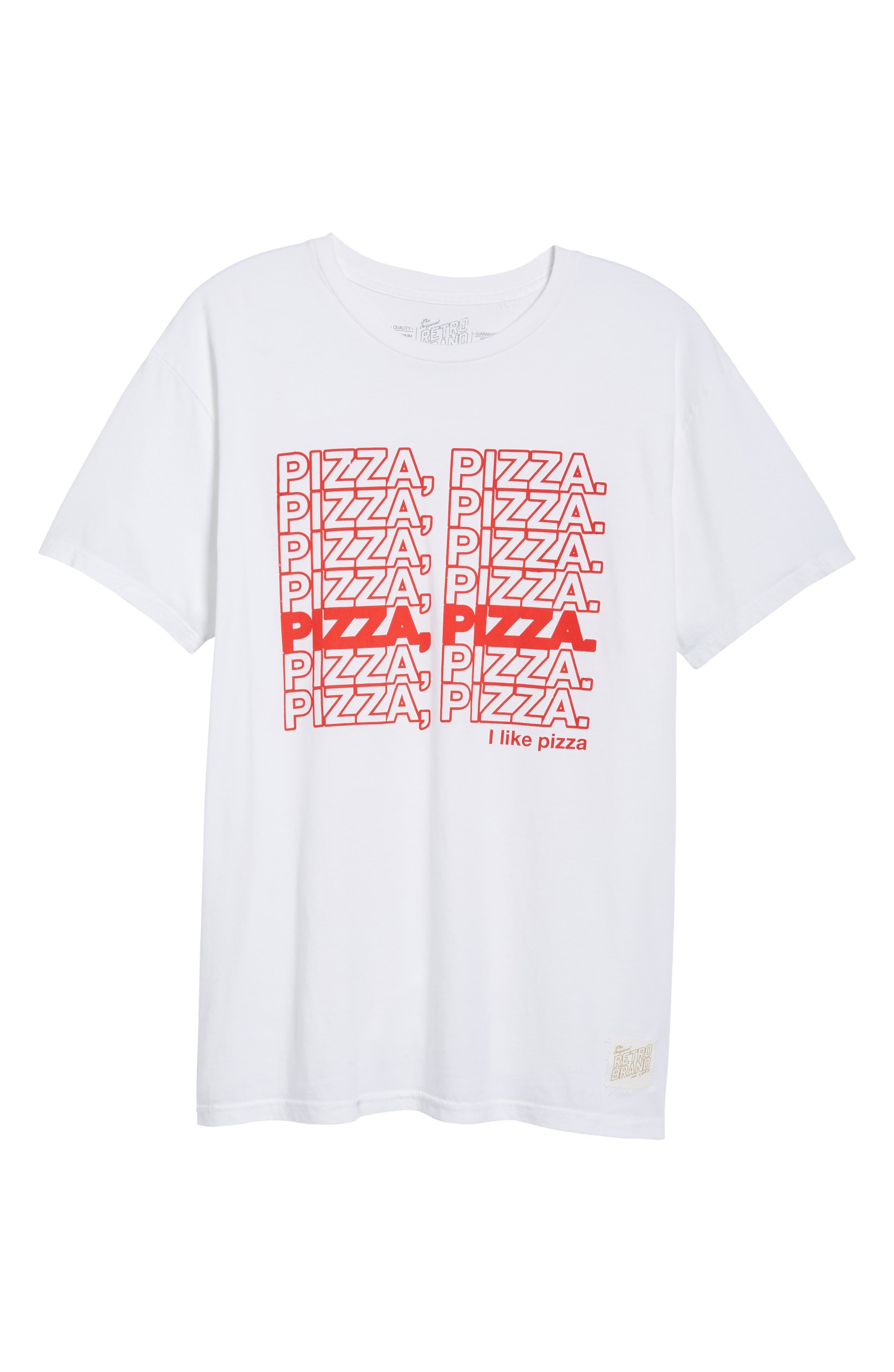 Pizza Pizza Graphic T-Shirt,                             Alternate thumbnail 6, color,                             White
