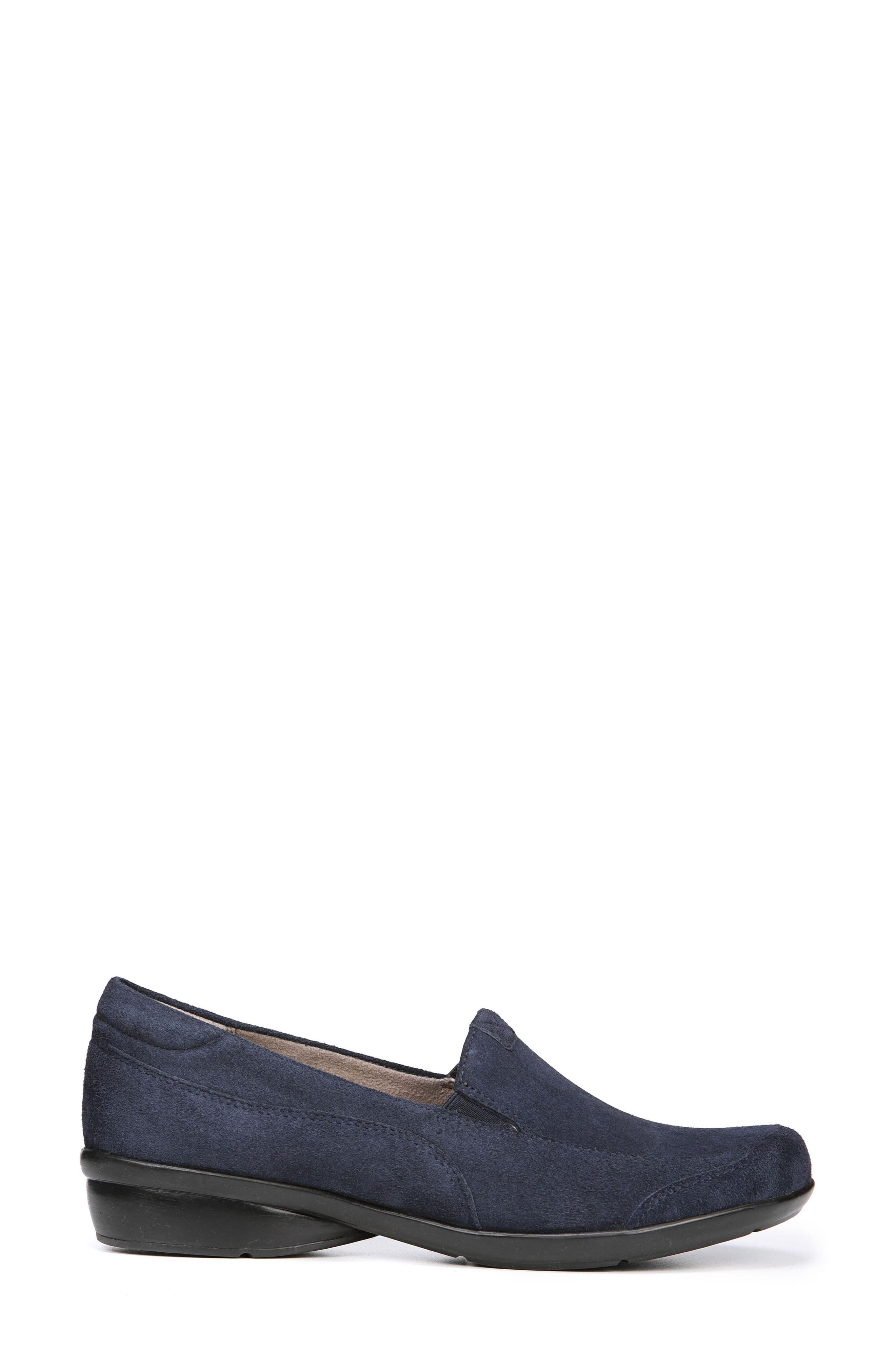 'Channing' Loafer,                             Alternate thumbnail 3, color,                             Navy Suede