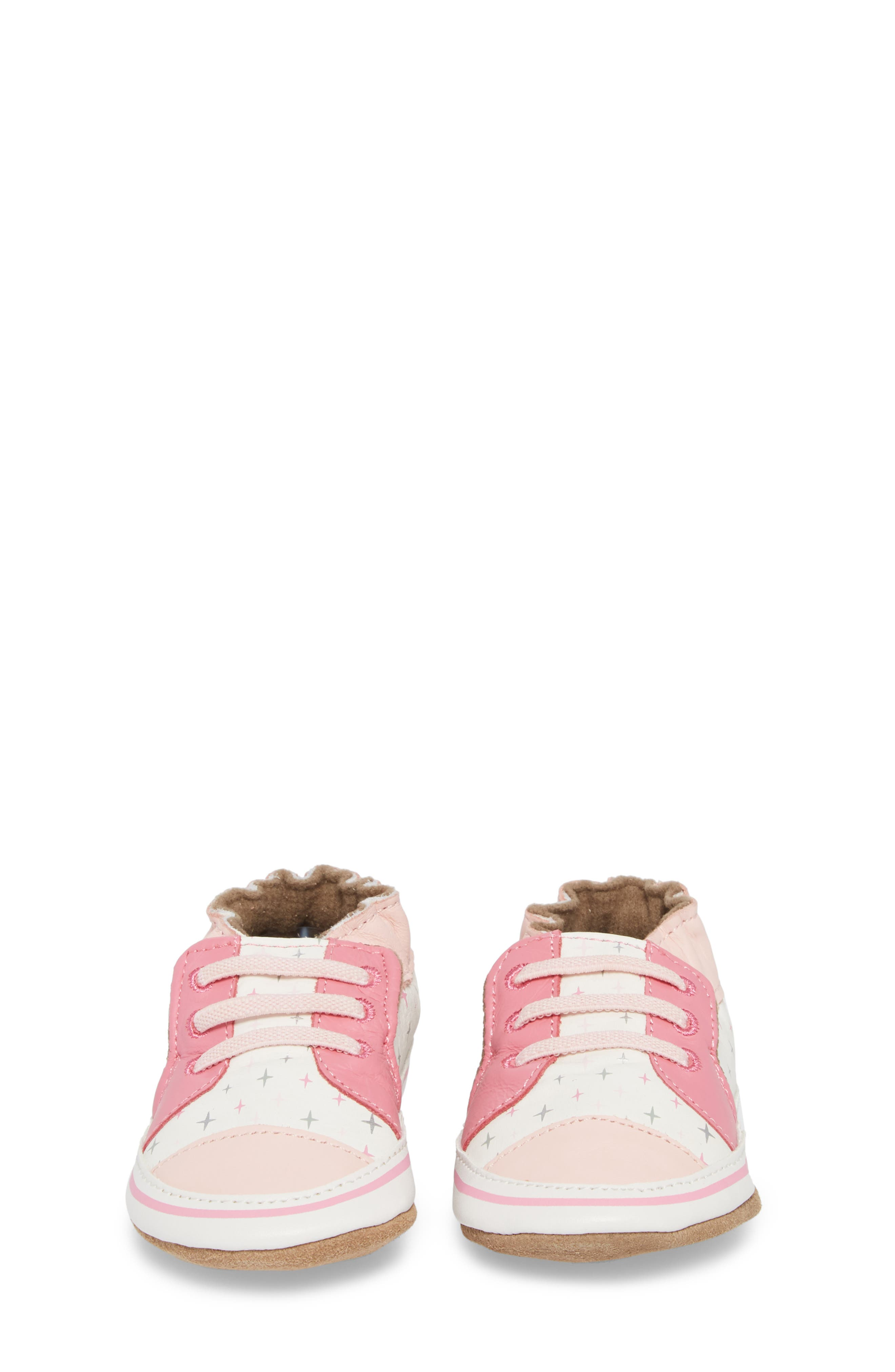 Alternate Image 5  - Robeez® Trendy Trainer Sneaker Crib Shoe (Baby)