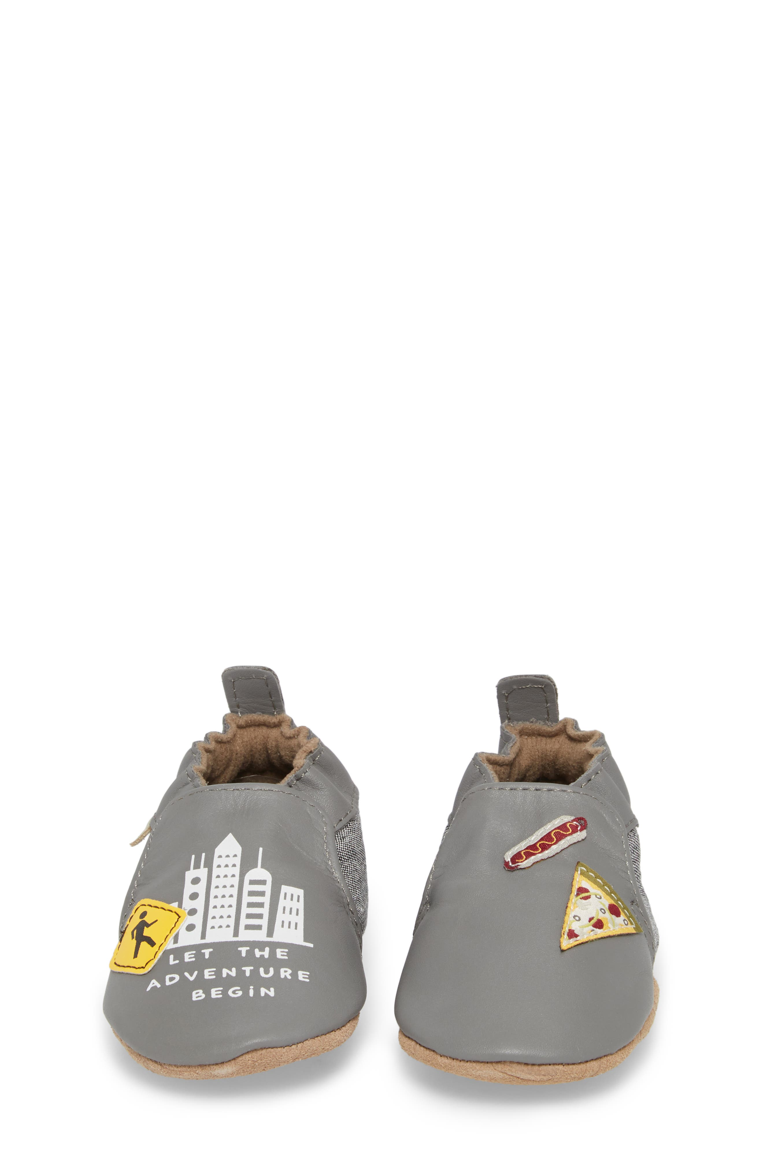 City Life Moccasin Crib Shoe,                             Alternate thumbnail 5, color,                             Grey