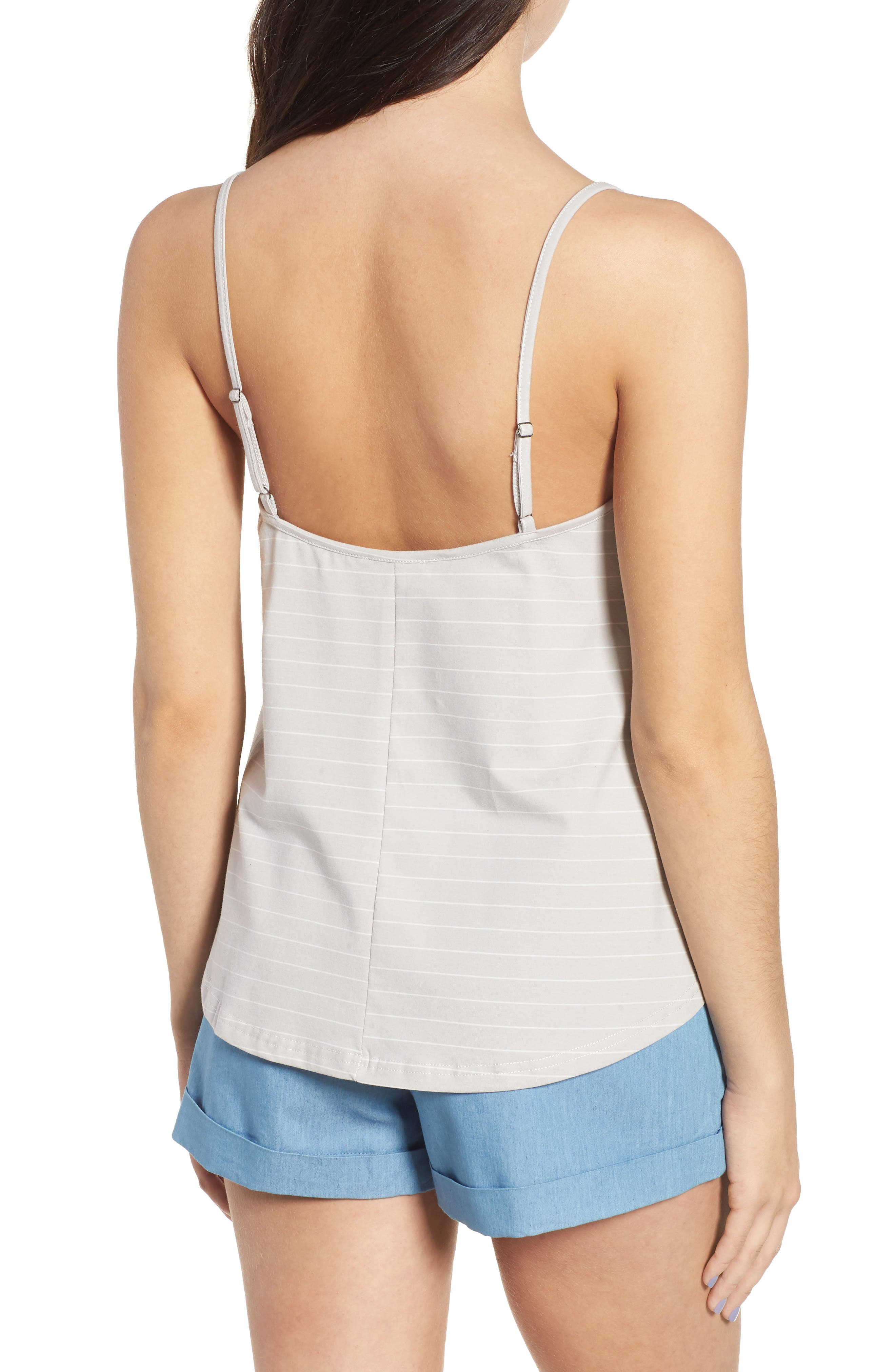 Harlow Stripe Camisole Top,                             Alternate thumbnail 3, color,                             Pewter
