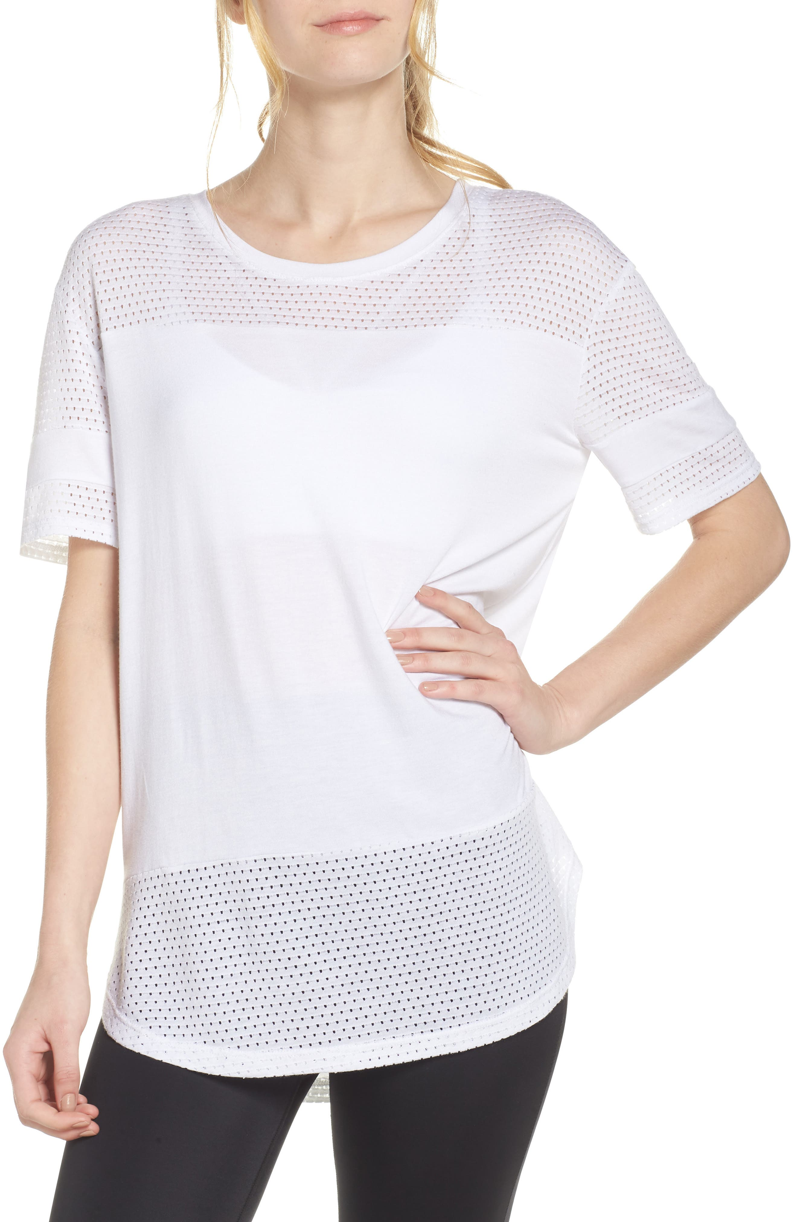 Full Transparency Tunic,                         Main,                         color, White