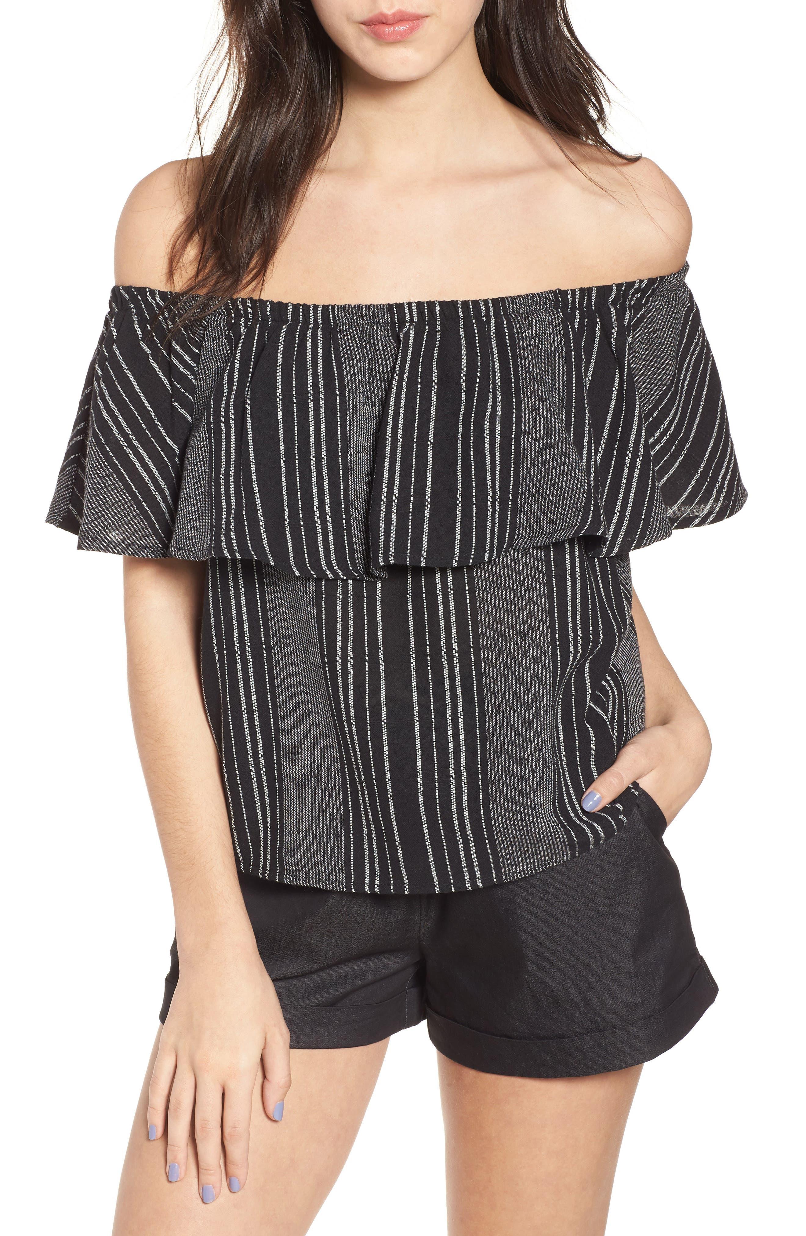 Lira Clothing Stella Stripe Off the Shoulder Top