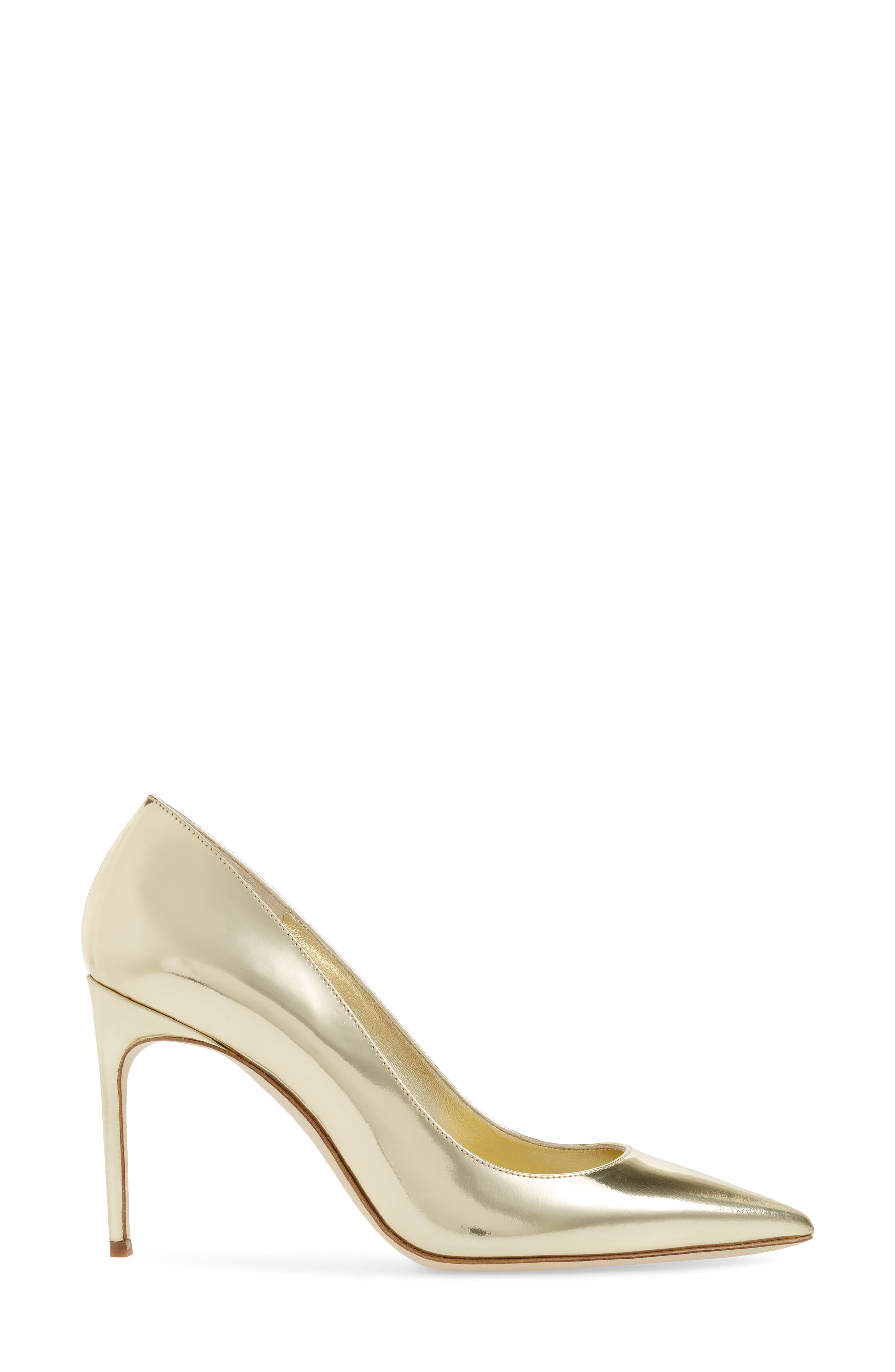 Valerie Pointy Toe Pump,                             Alternate thumbnail 3, color,                             Sahara Gold Specchio