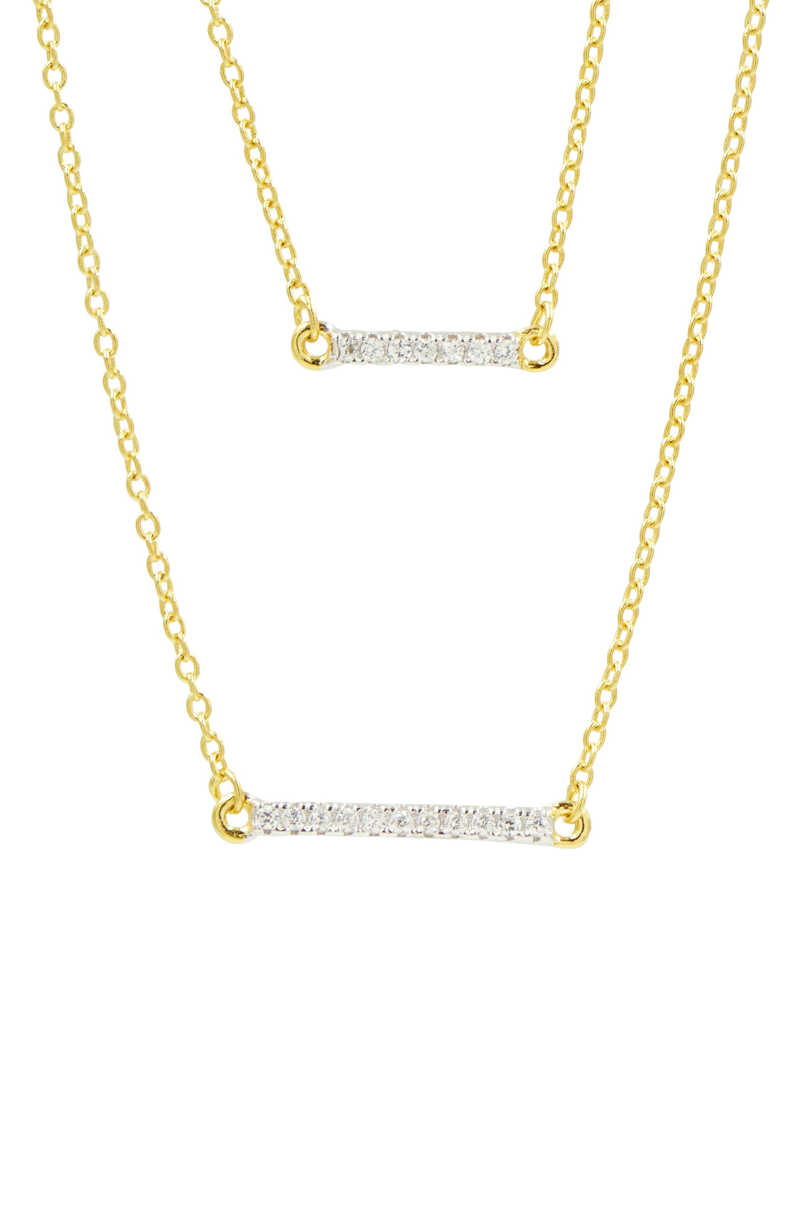 Radiance Double Pendant Necklace,                             Alternate thumbnail 2, color,                             Gold/ Silver