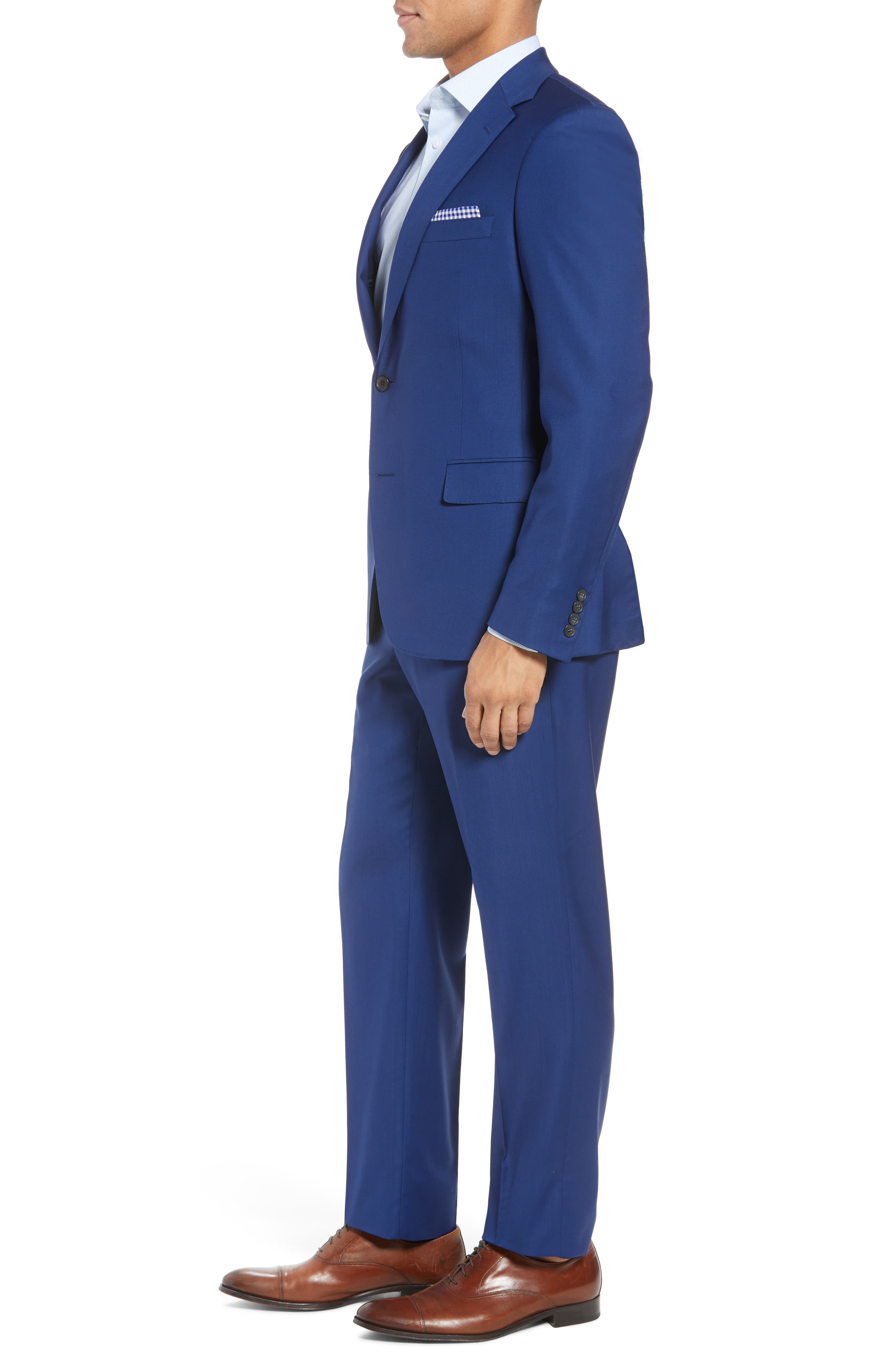 Bennet Classic Fit Solid Wool Suit,                             Alternate thumbnail 3, color,                             High Blue