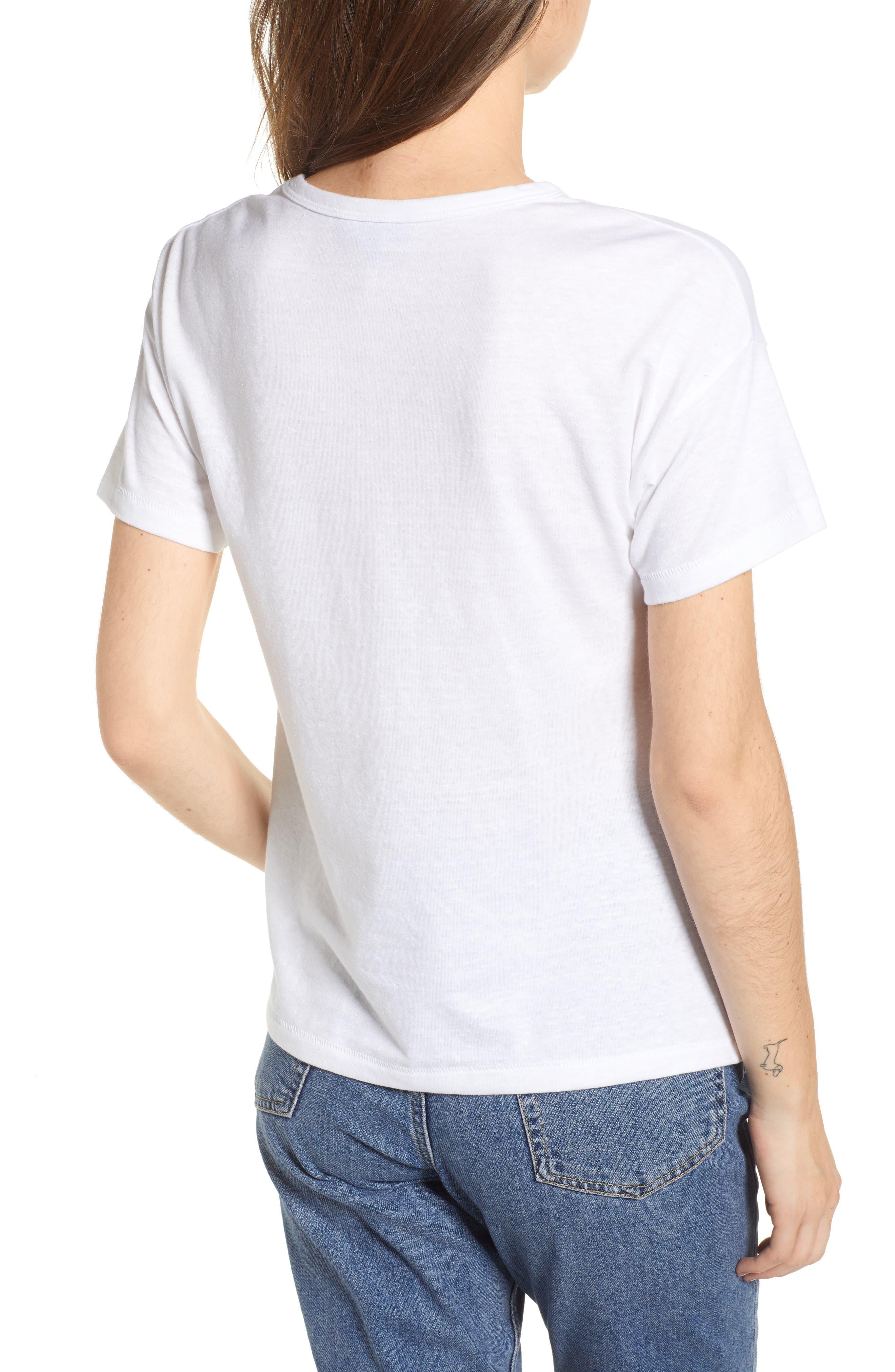 Short Sleeve Marl T-Shirt,                             Alternate thumbnail 2, color,                             White