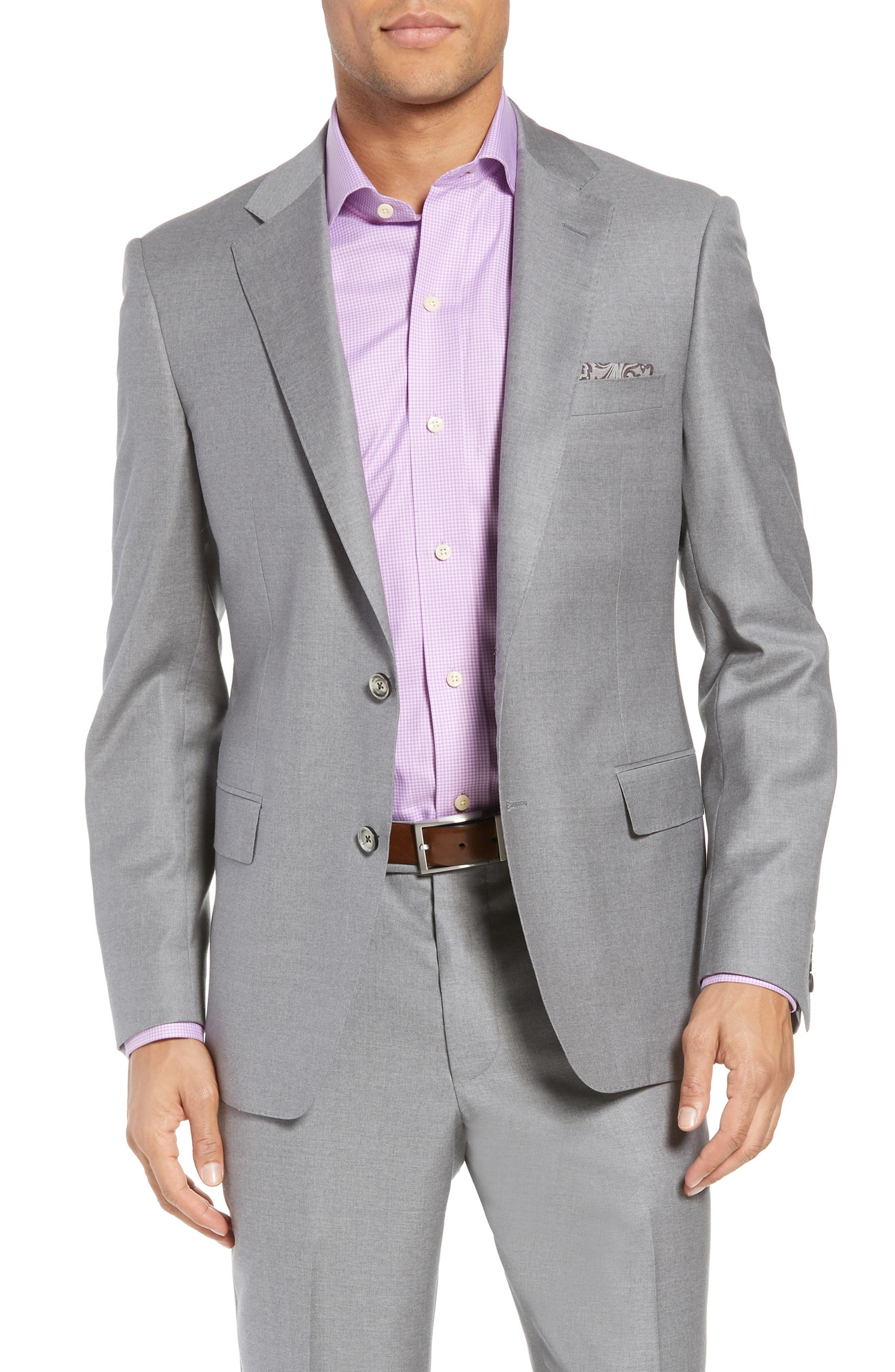 Bennet Classic Fit Solid Wool Suit,                             Alternate thumbnail 5, color,                             Light Grey
