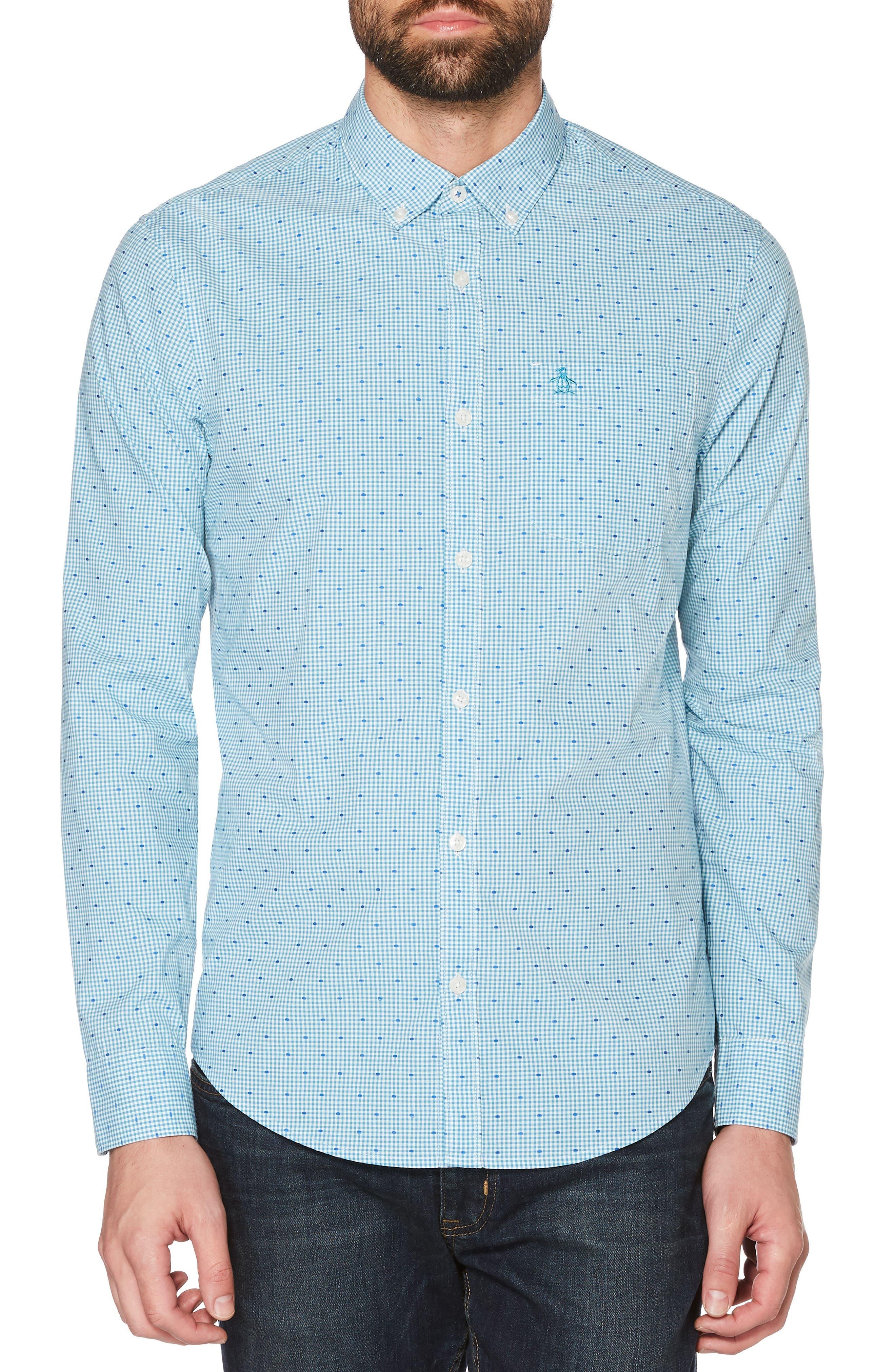 Dobby Shirt,                         Main,                         color, Blue Moon