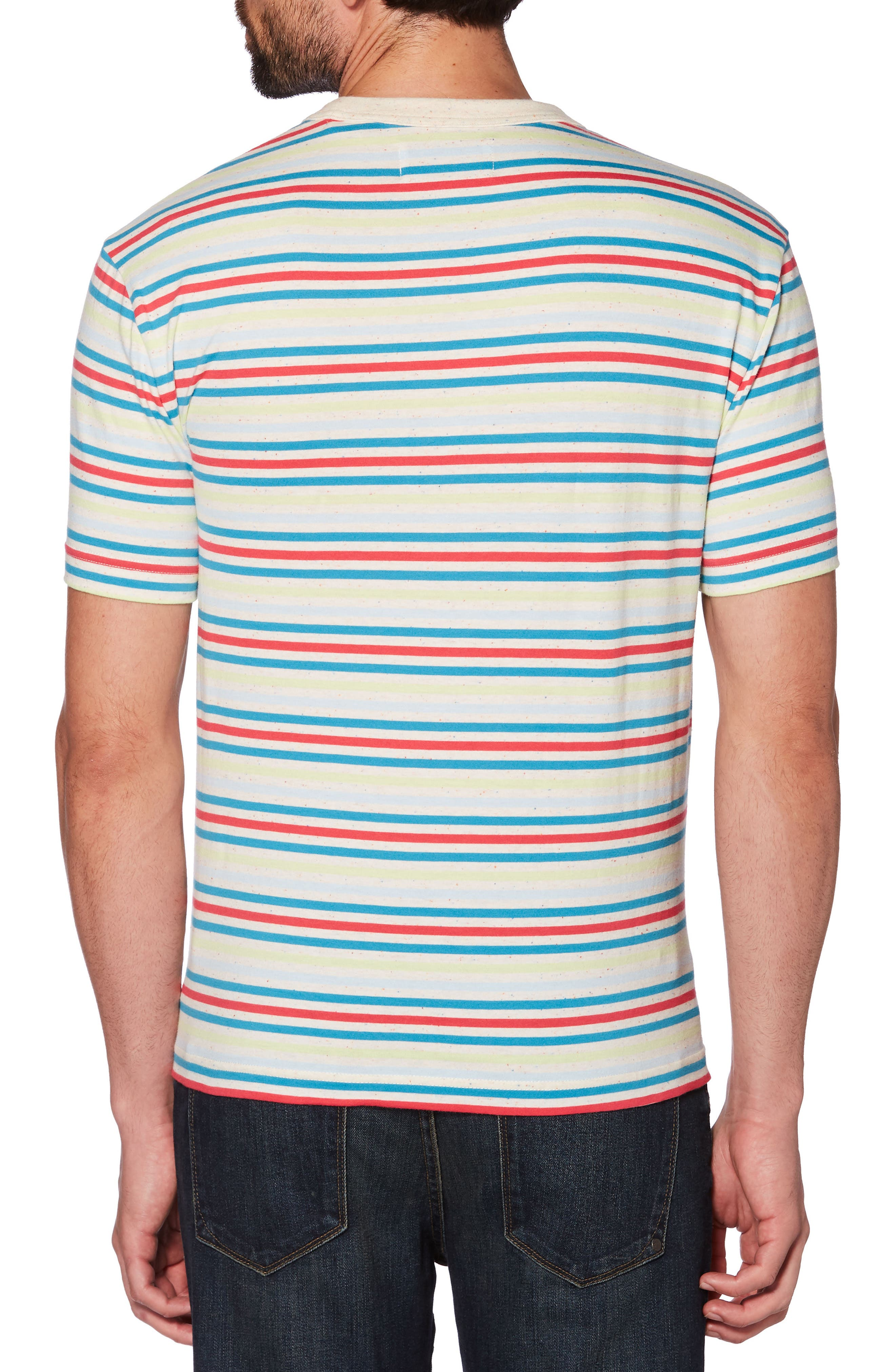 Nep Pop Stripe T-Shirt,                             Alternate thumbnail 2, color,                             Bright White