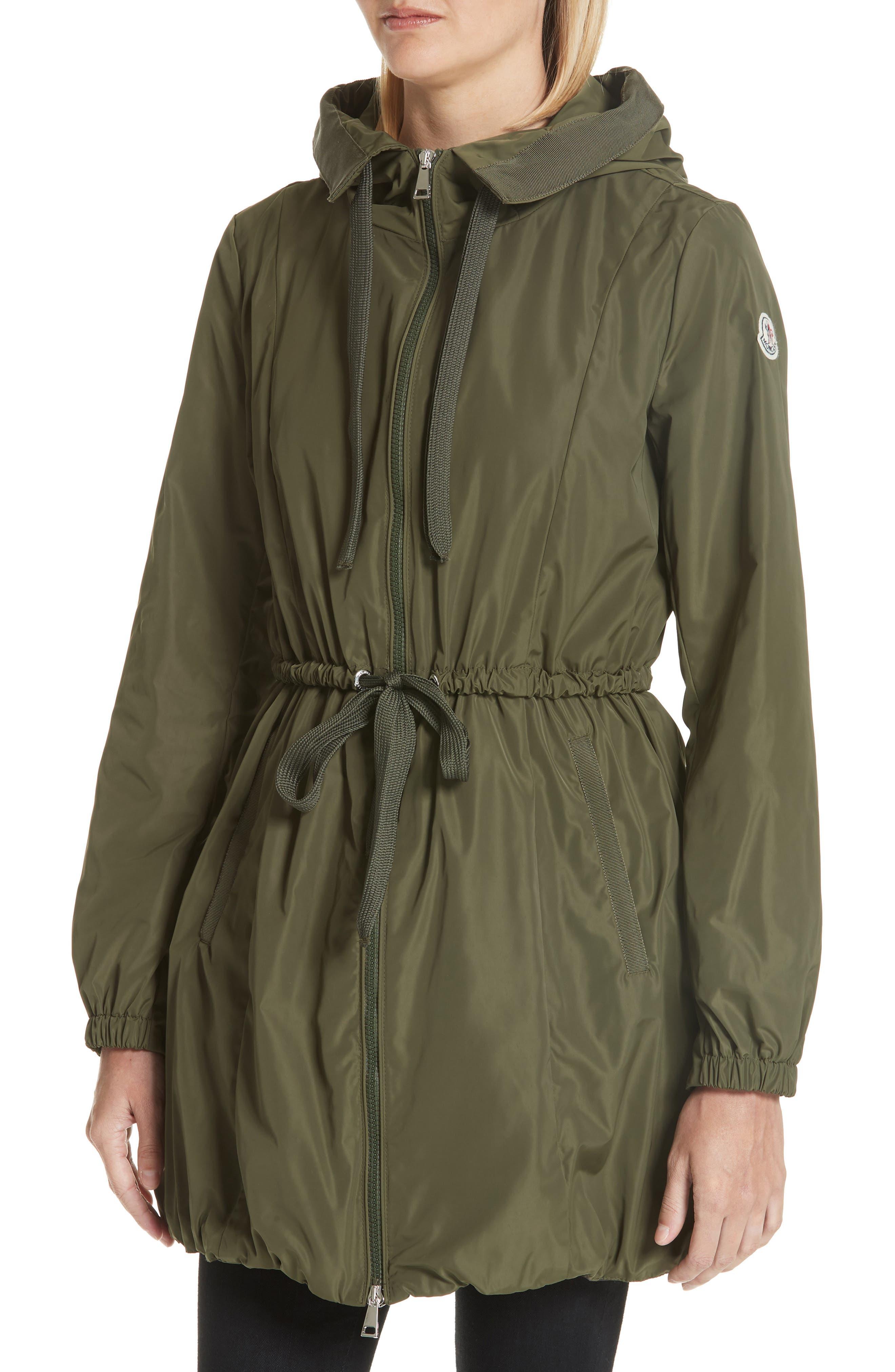 Topaze Water Resistant Hooded Jacket,                             Alternate thumbnail 4, color,                             Olive