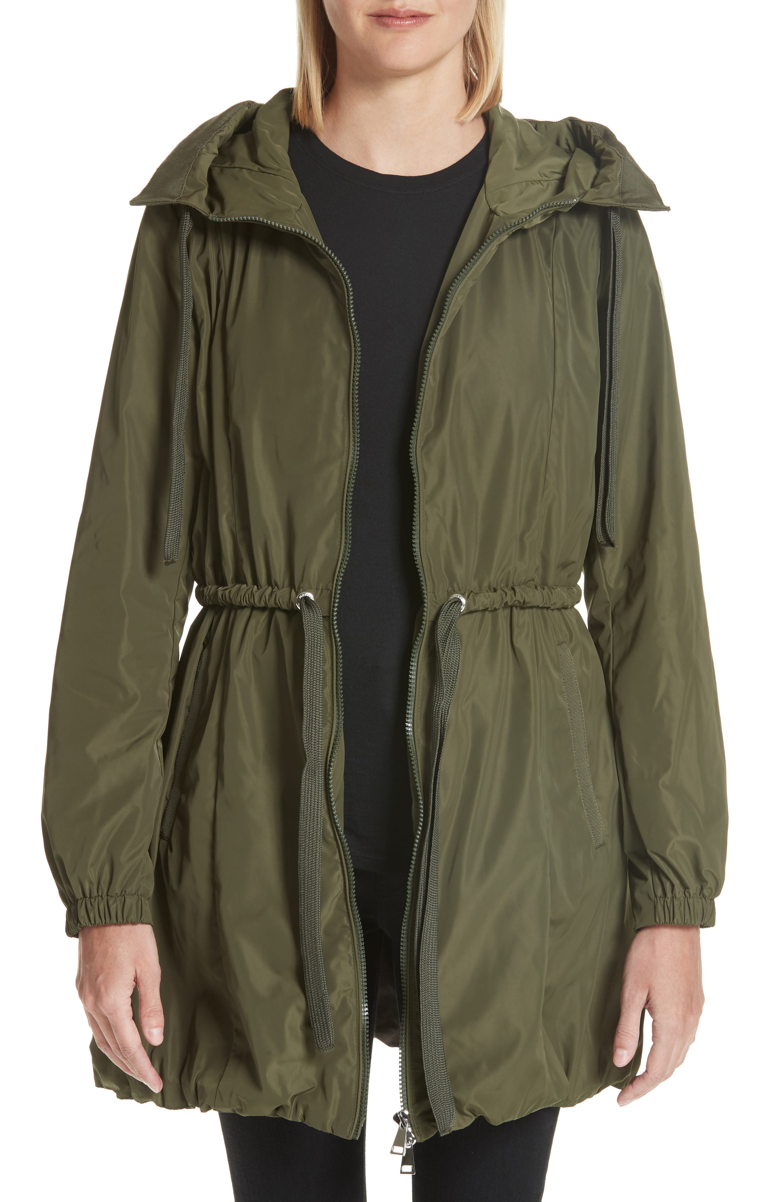Topaze Water Resistant Hooded Jacket,                             Main thumbnail 1, color,                             Olive