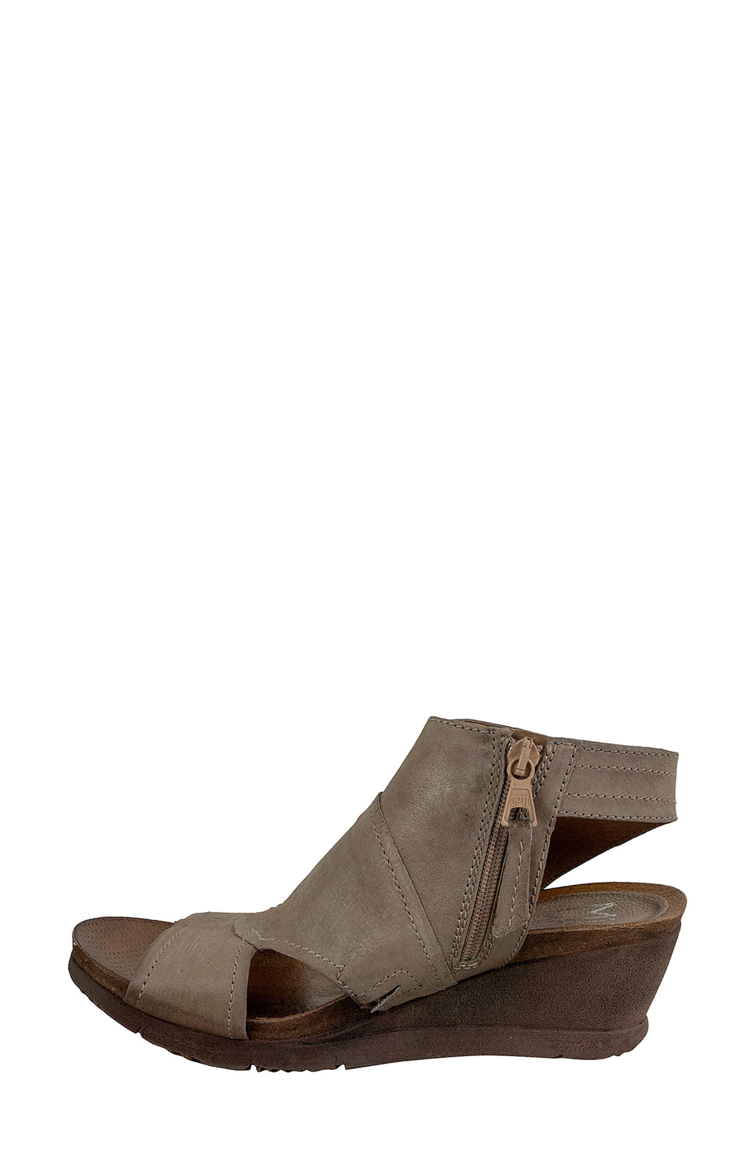 Scout Wedge Sandal,                             Alternate thumbnail 3, color,                             Pebble Leather