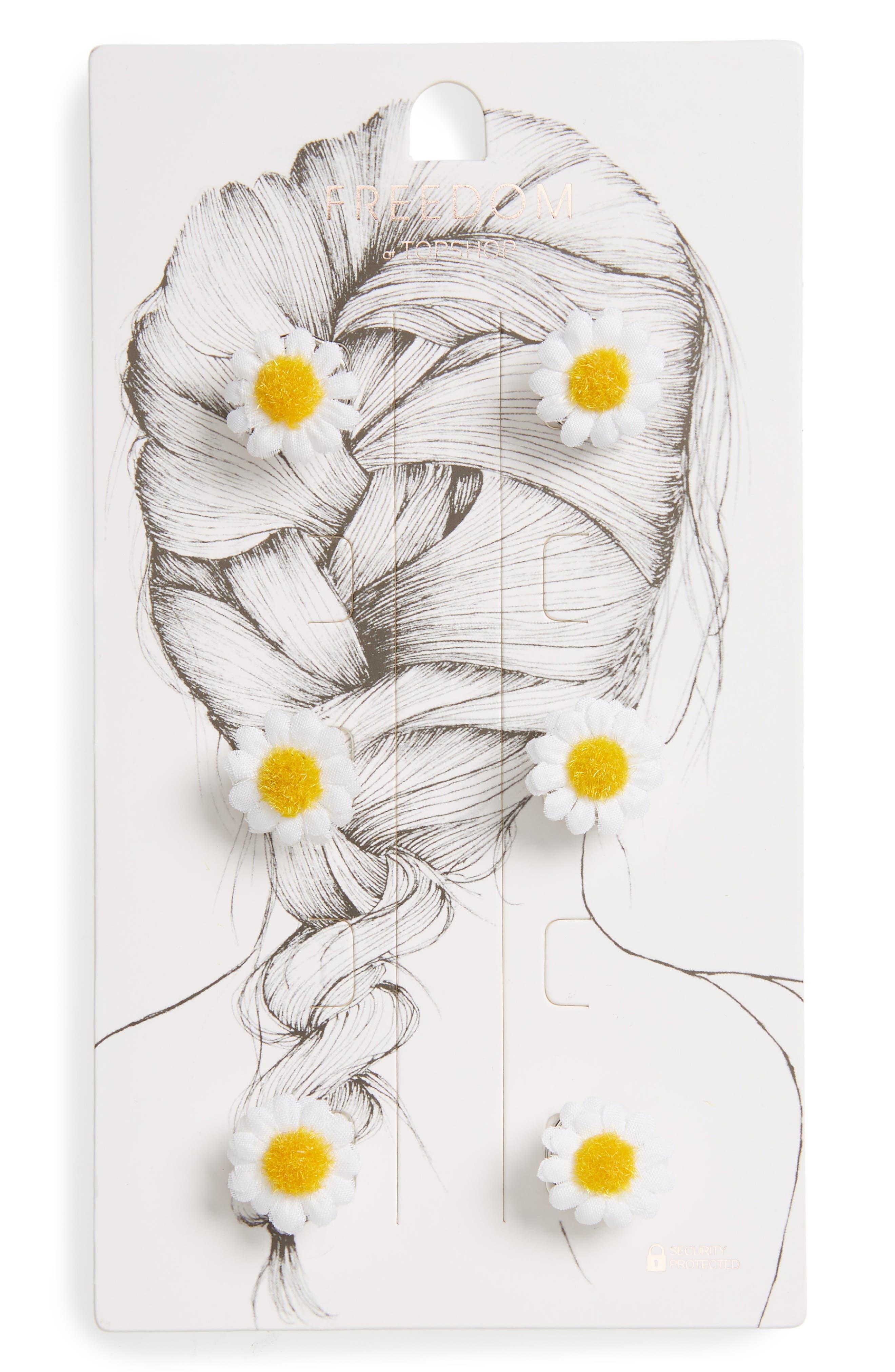 Fab Daisy Hair Swirls,                             Main thumbnail 1, color,                             White