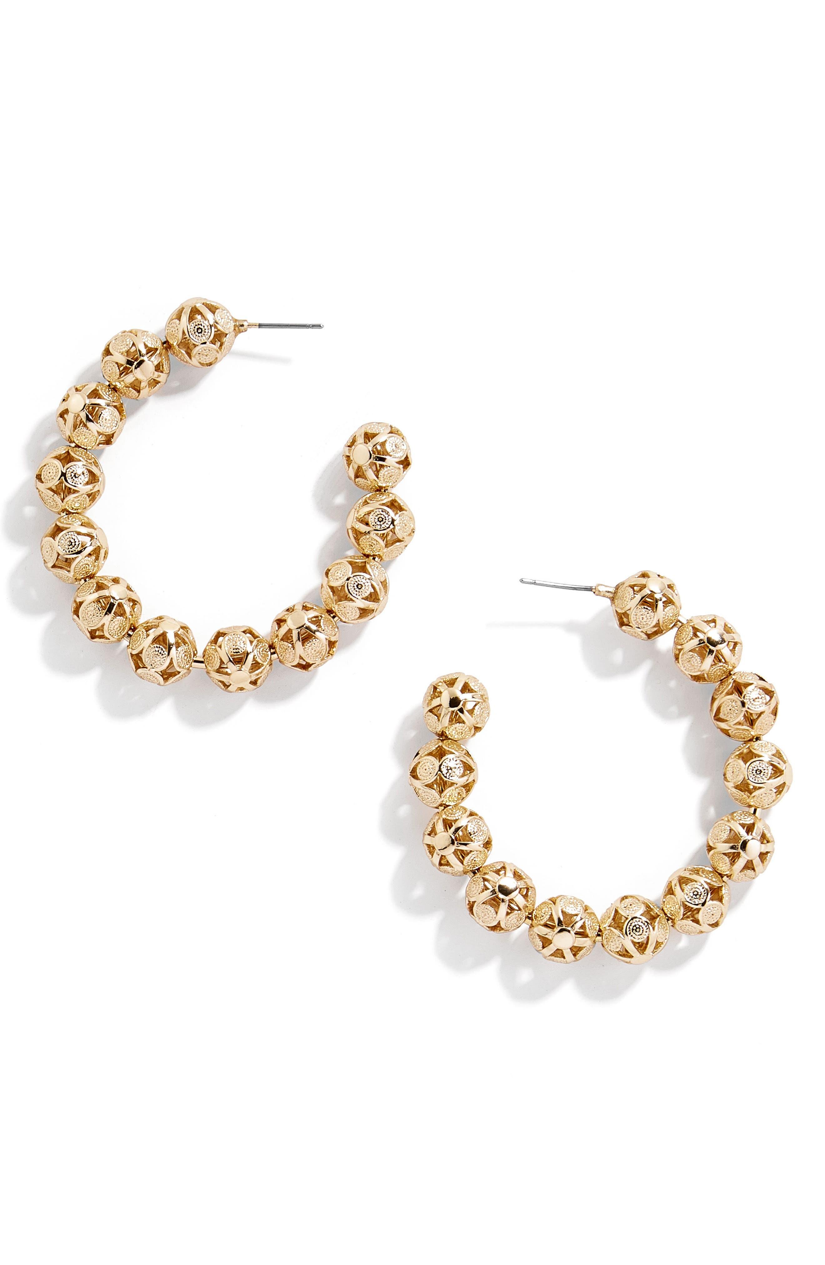 Amora Hoop Earrings,                         Main,                         color, Gold