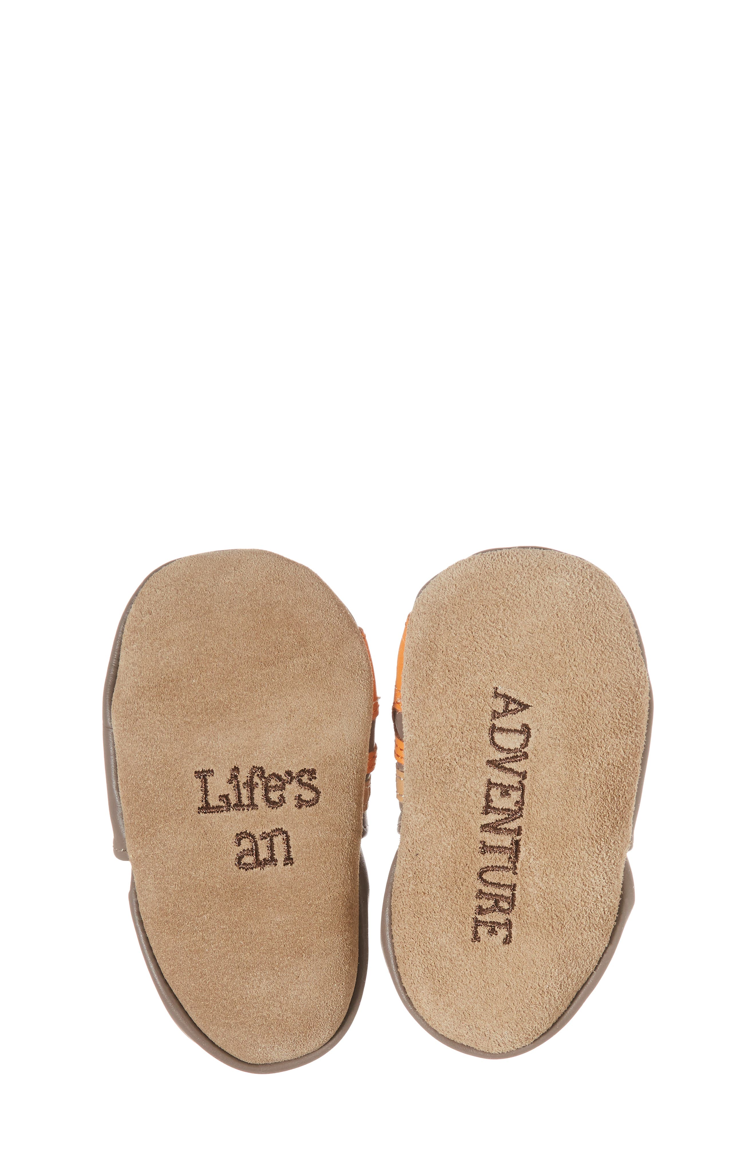 Alternate Image 6  - Robeez® Life is an Adventure Crib Shoe (Baby & Walker)