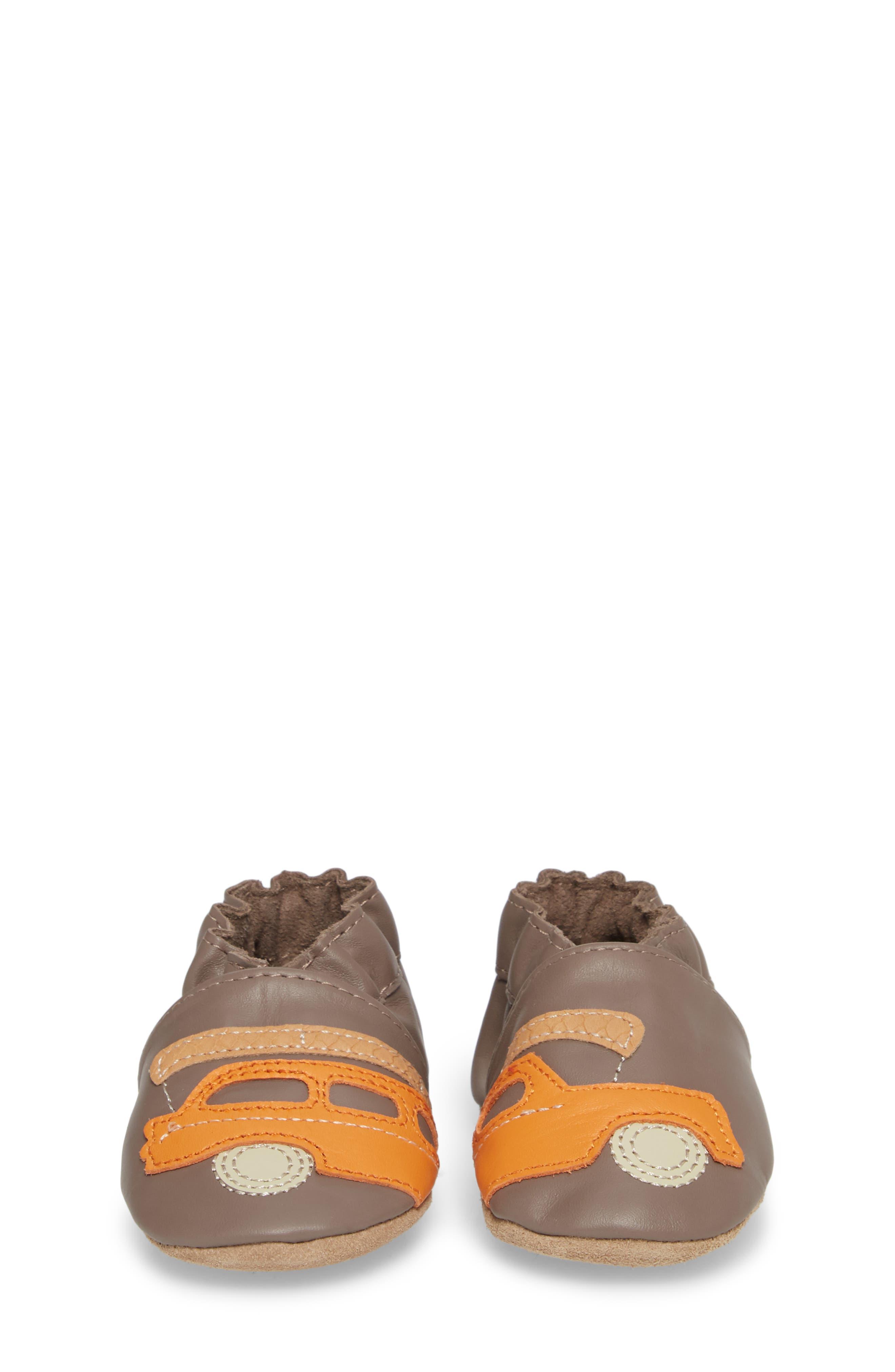 Alternate Image 4  - Robeez® Life is an Adventure Crib Shoe (Baby & Walker)