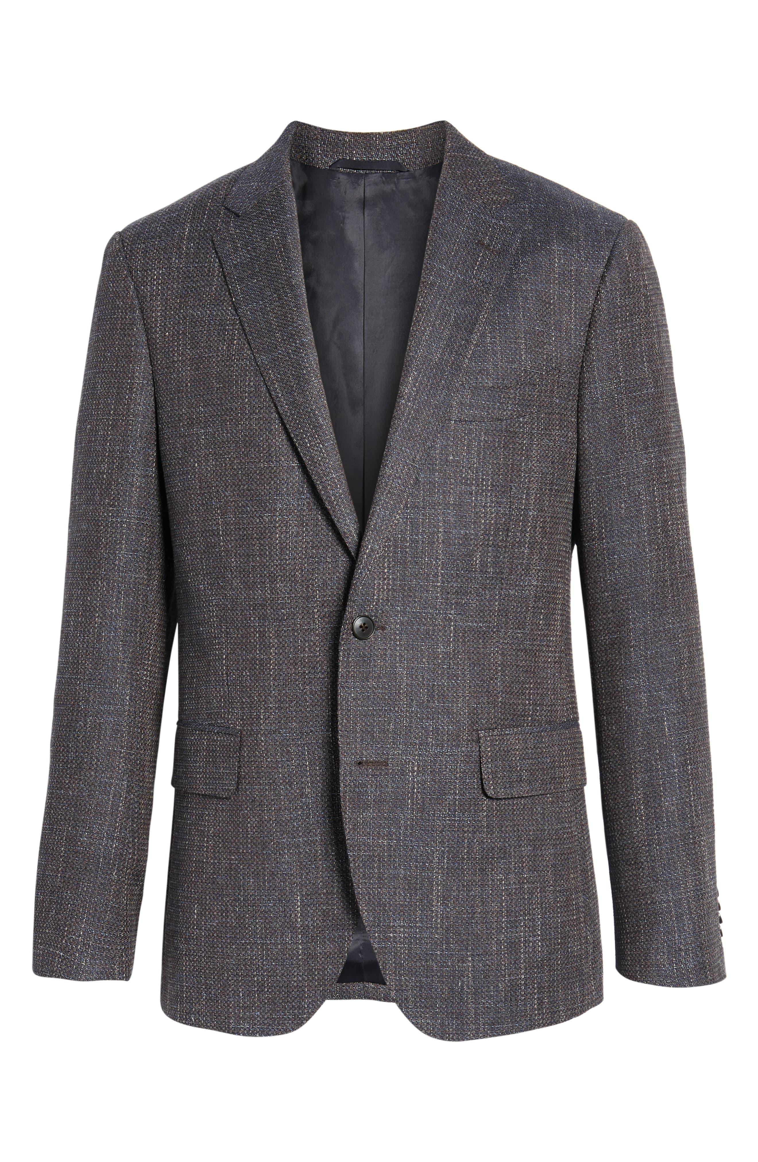 Five Bridges Slim Fit Tweed Sport Coat,                             Alternate thumbnail 6, color,                             Sepia
