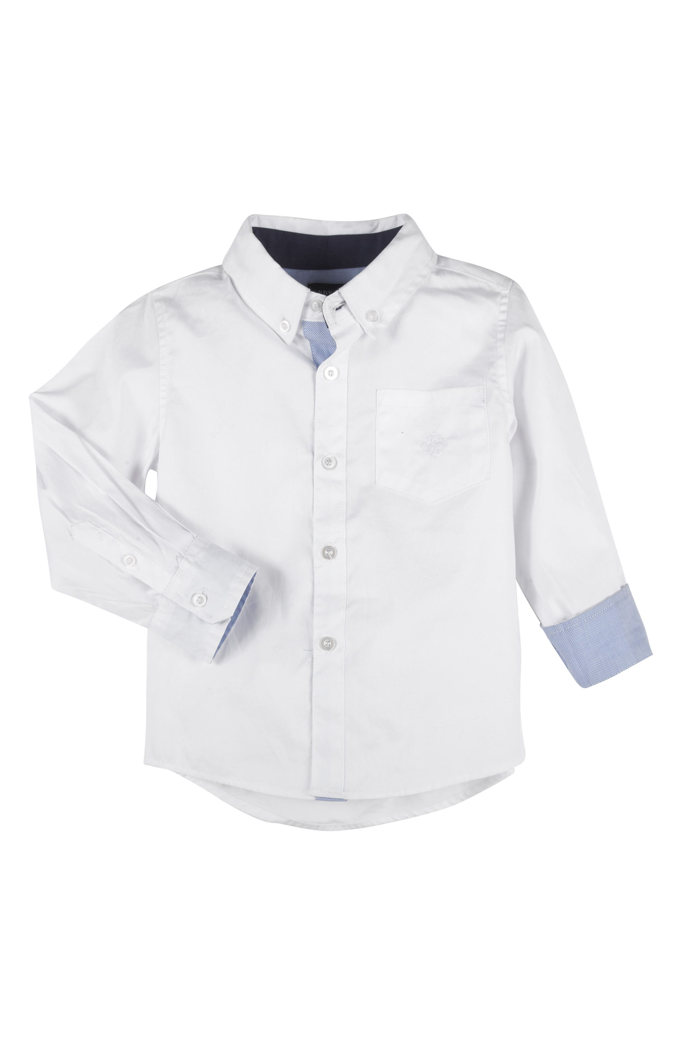 Alternate Image 1 Selected - Andy & Evan Oxford Shirt (Toddler Boys)