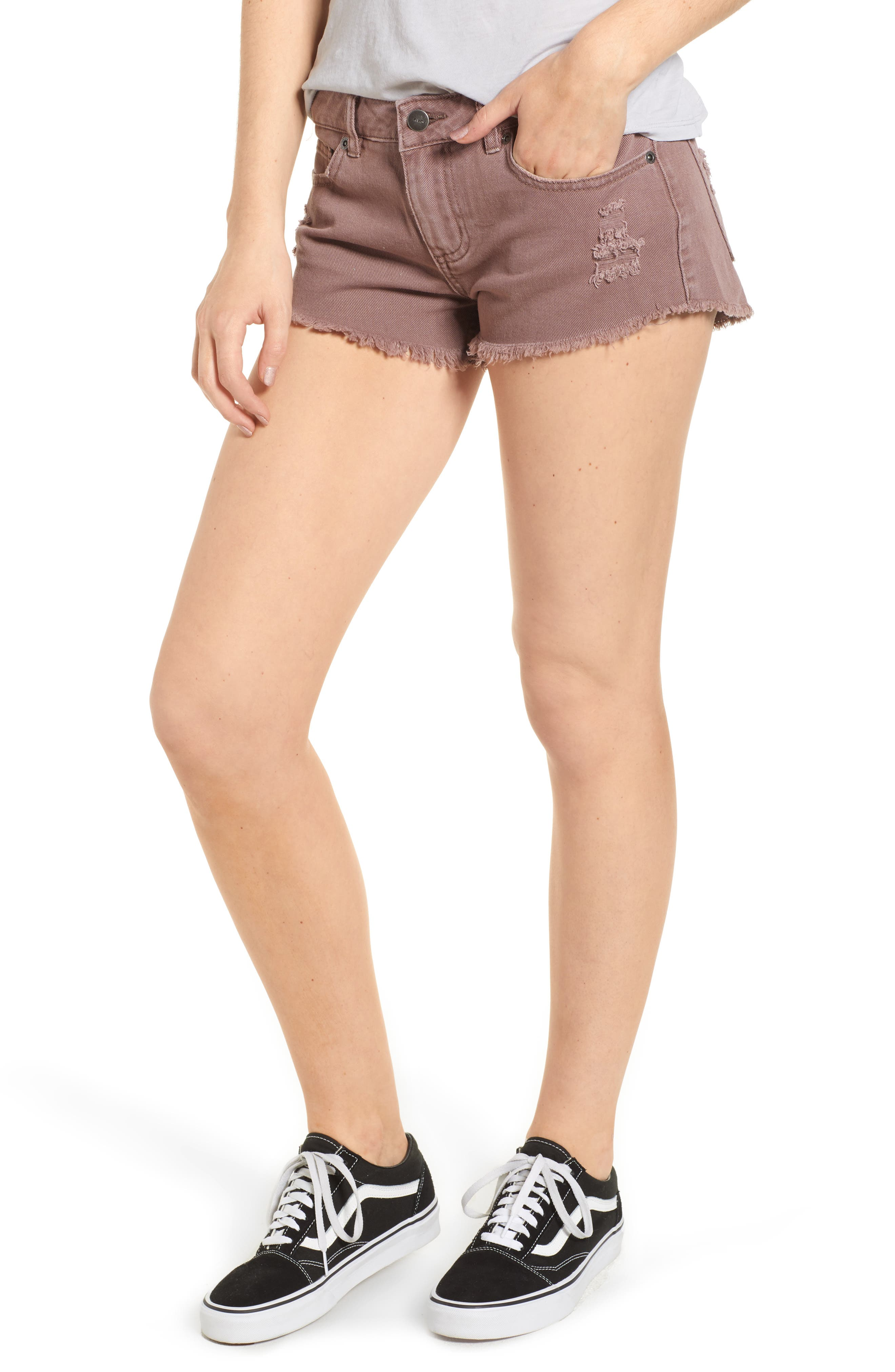 RVCA 'Hello Mellow' Cutoff Denim Shorts